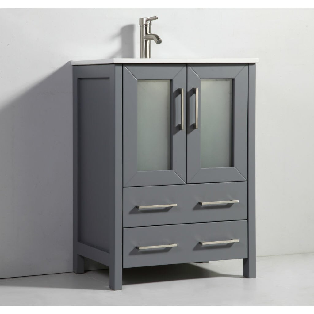 "Legion Furniture 24"" Single Bathroom Vanity Set with Mirror & Review"