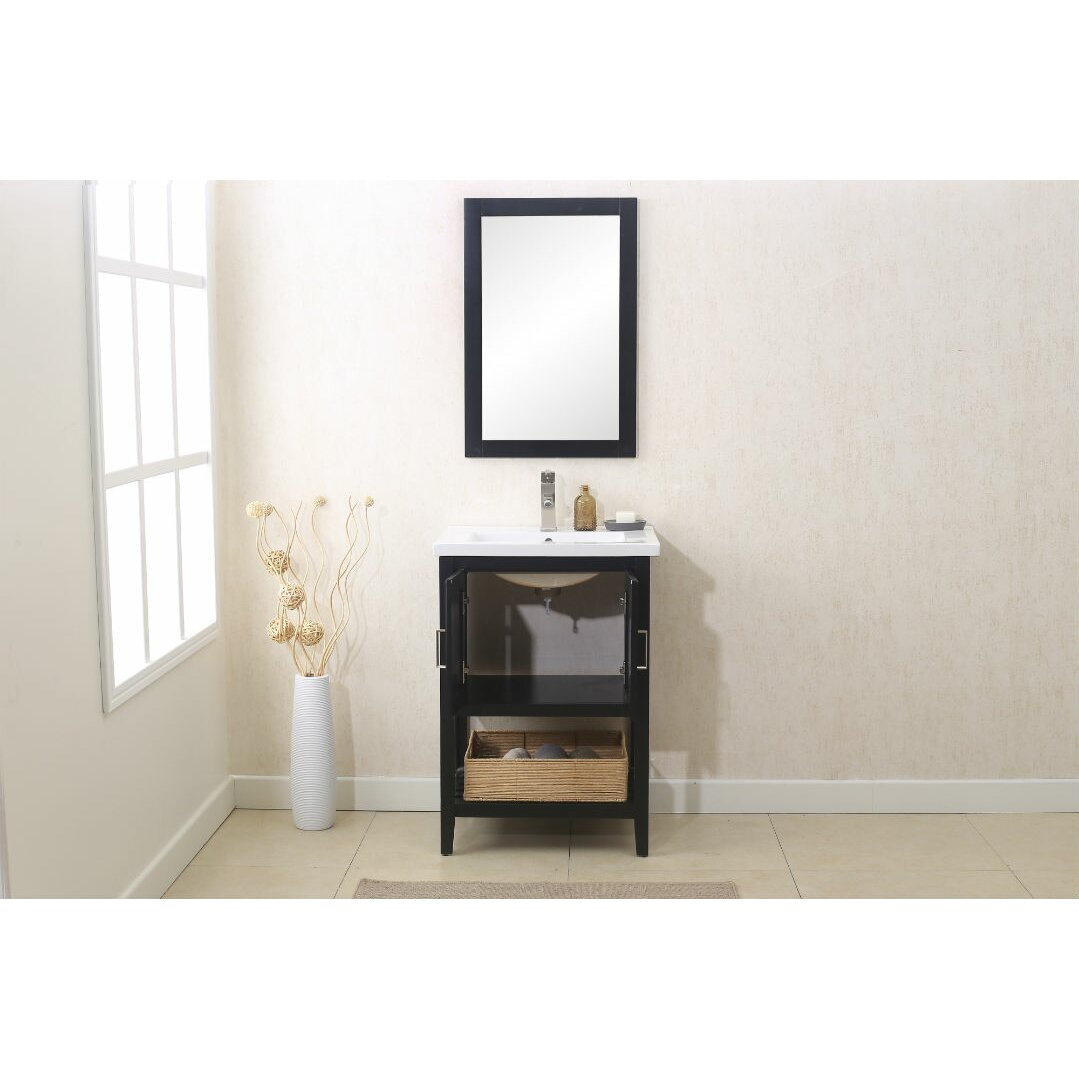 Legion Furniture 24 Single Vanity Set With Mirror Reviews Wayfair