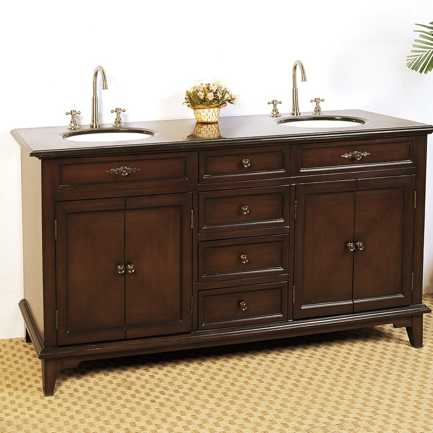 Legion Furniture Hatherleigh 69 Double Chest Bathroom Vanity Set Reviews Wayfair