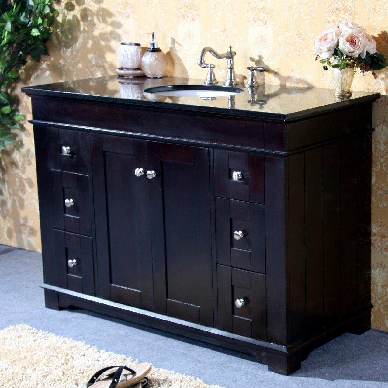 Legion furniture 48 single bathroom vanity set reviews for Bathroom furniture sets