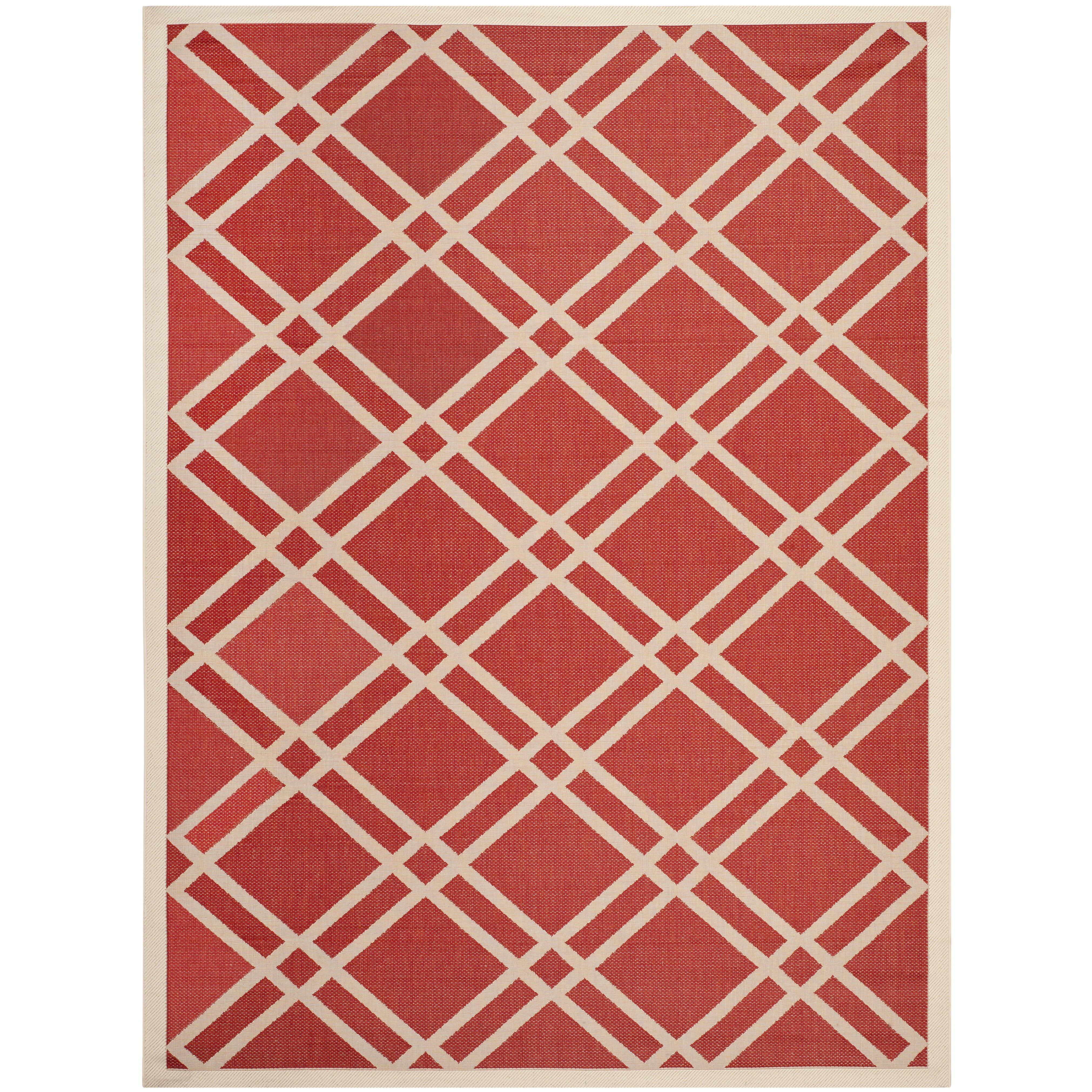 Safavieh mason red indoor outdoor area rug reviews for Indoor outdoor rugs uk