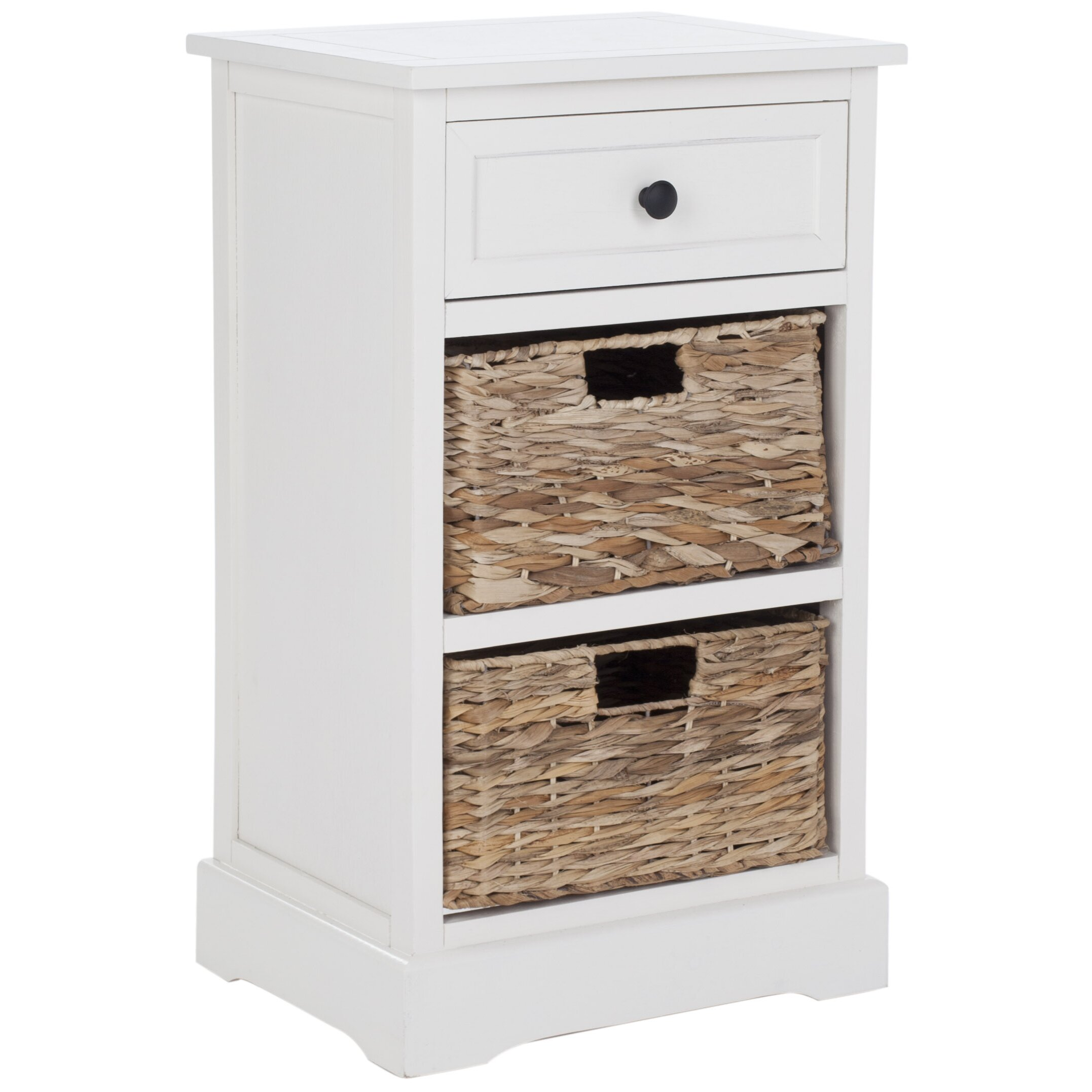 Safavieh juneau 1 drawer bedside table reviews wayfair uk for 1 drawer bedside table