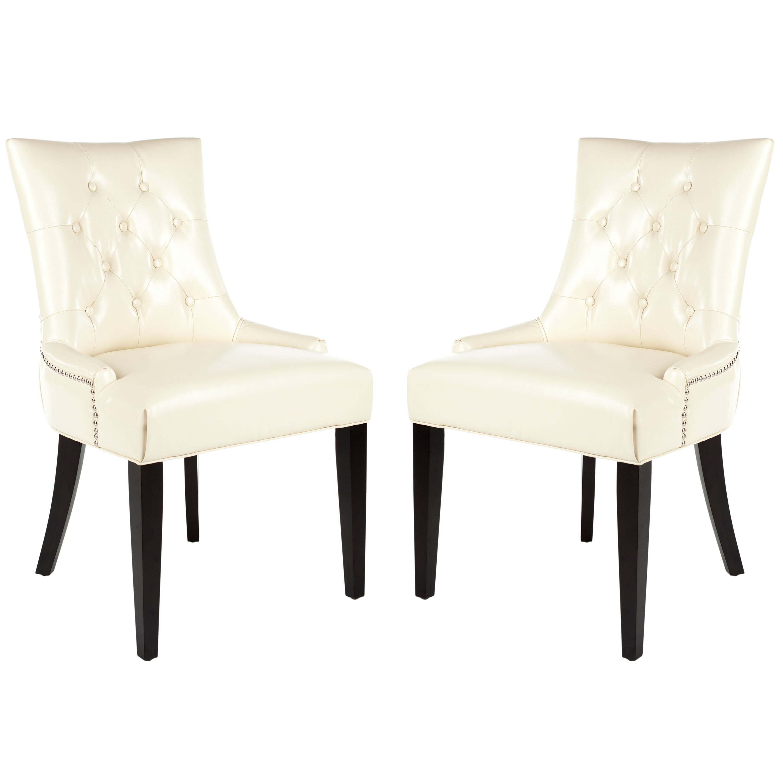 safavieh holmes solid birch upholstered dining chair reviews wayfair uk. Black Bedroom Furniture Sets. Home Design Ideas