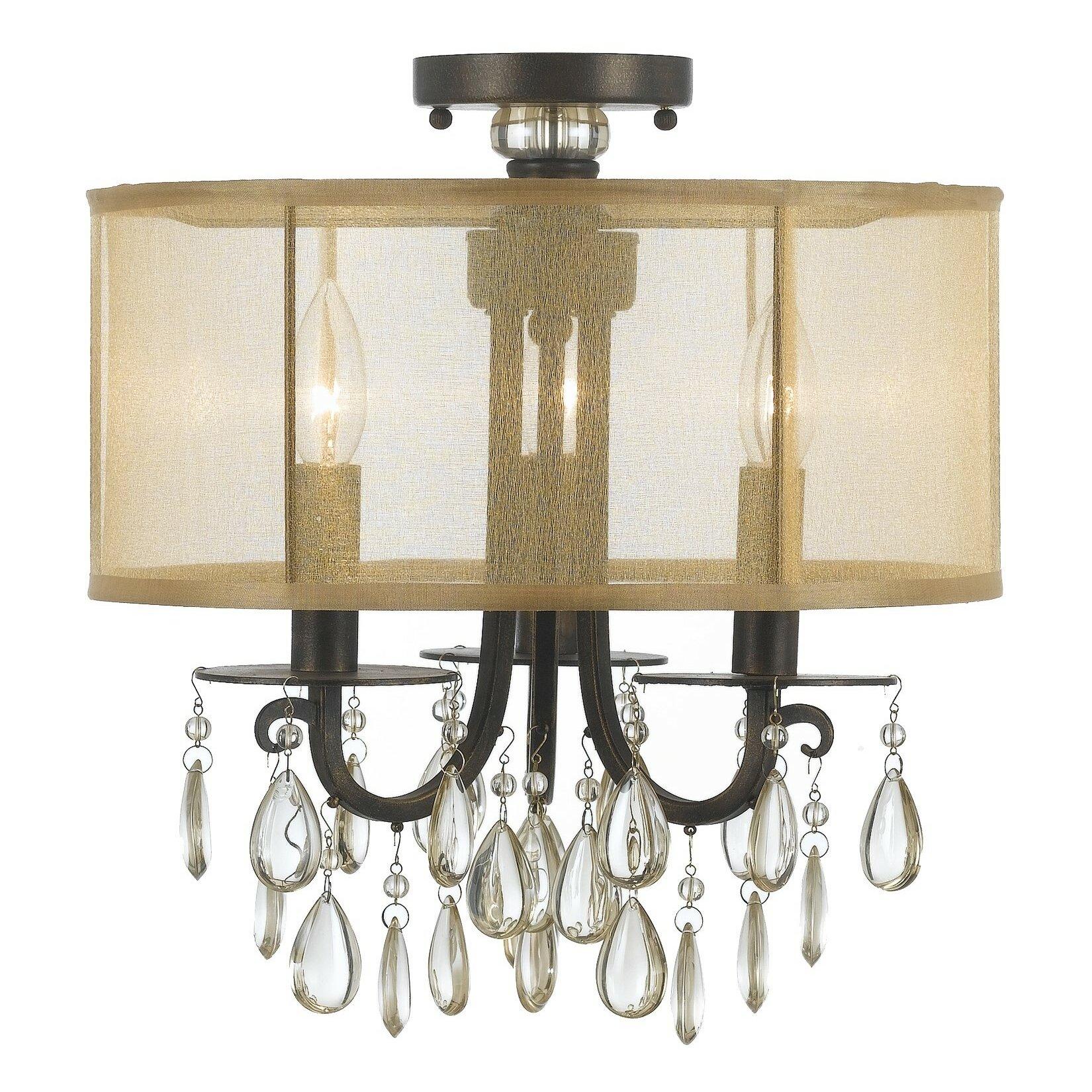 crystorama hampton 3 light drum shade chandelier reviews