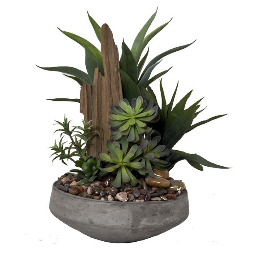 Creative Branch Faux Succulent Gardent II Desk Top Plant
