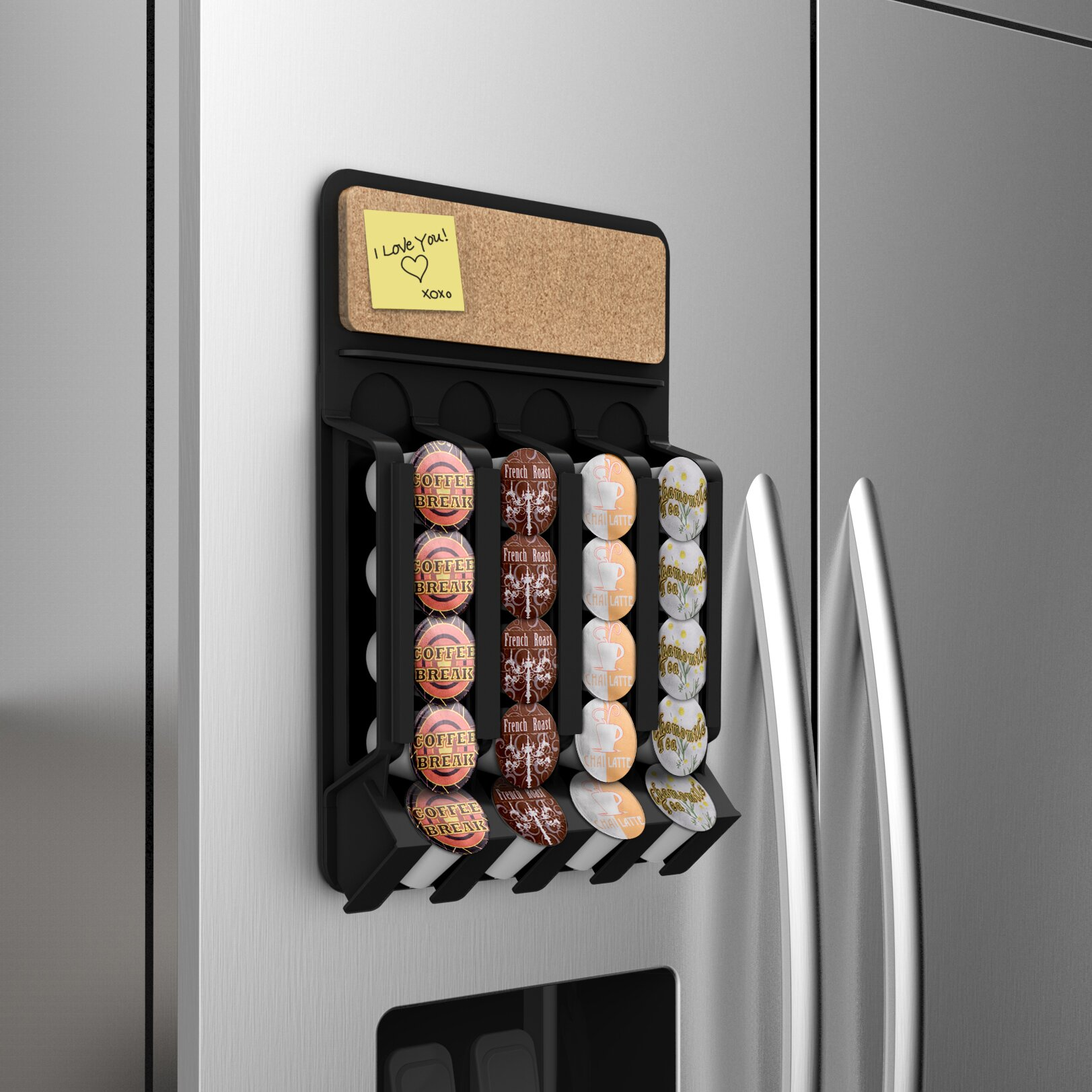 Mind Reader Fridge Wall Mount Coffee Pod Dispenser