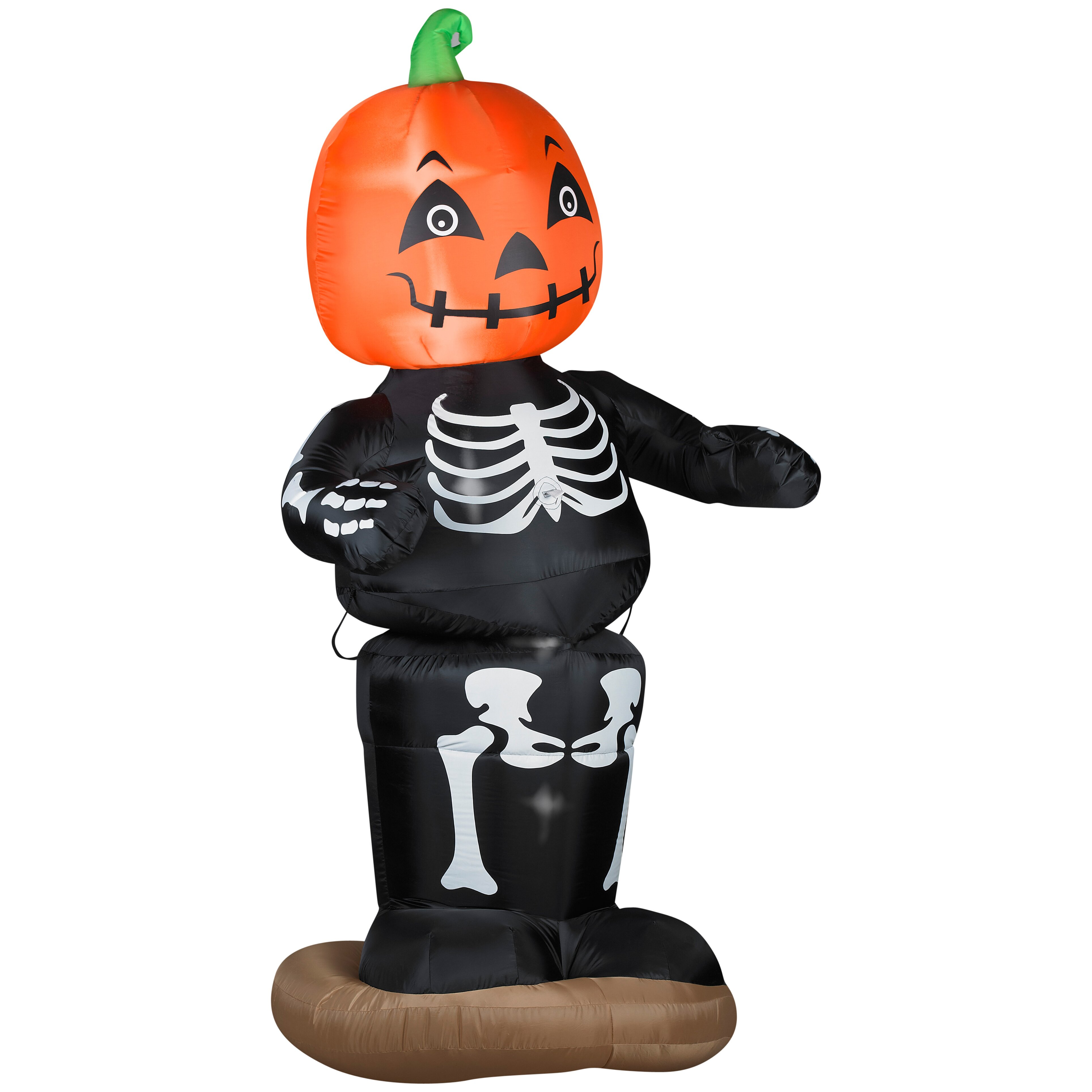 Gemmy industries animated dancing pumpkin boy skeleton for Animated halloween decoration