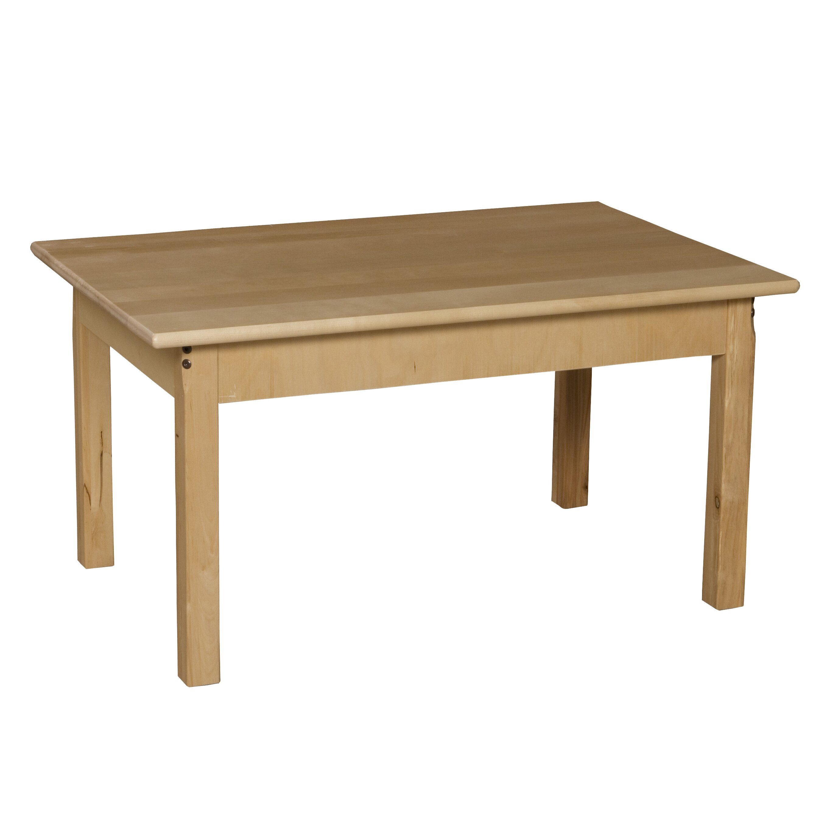 Wood designs 36 x 24 rectangular activity table for Coffee table 48 x 36