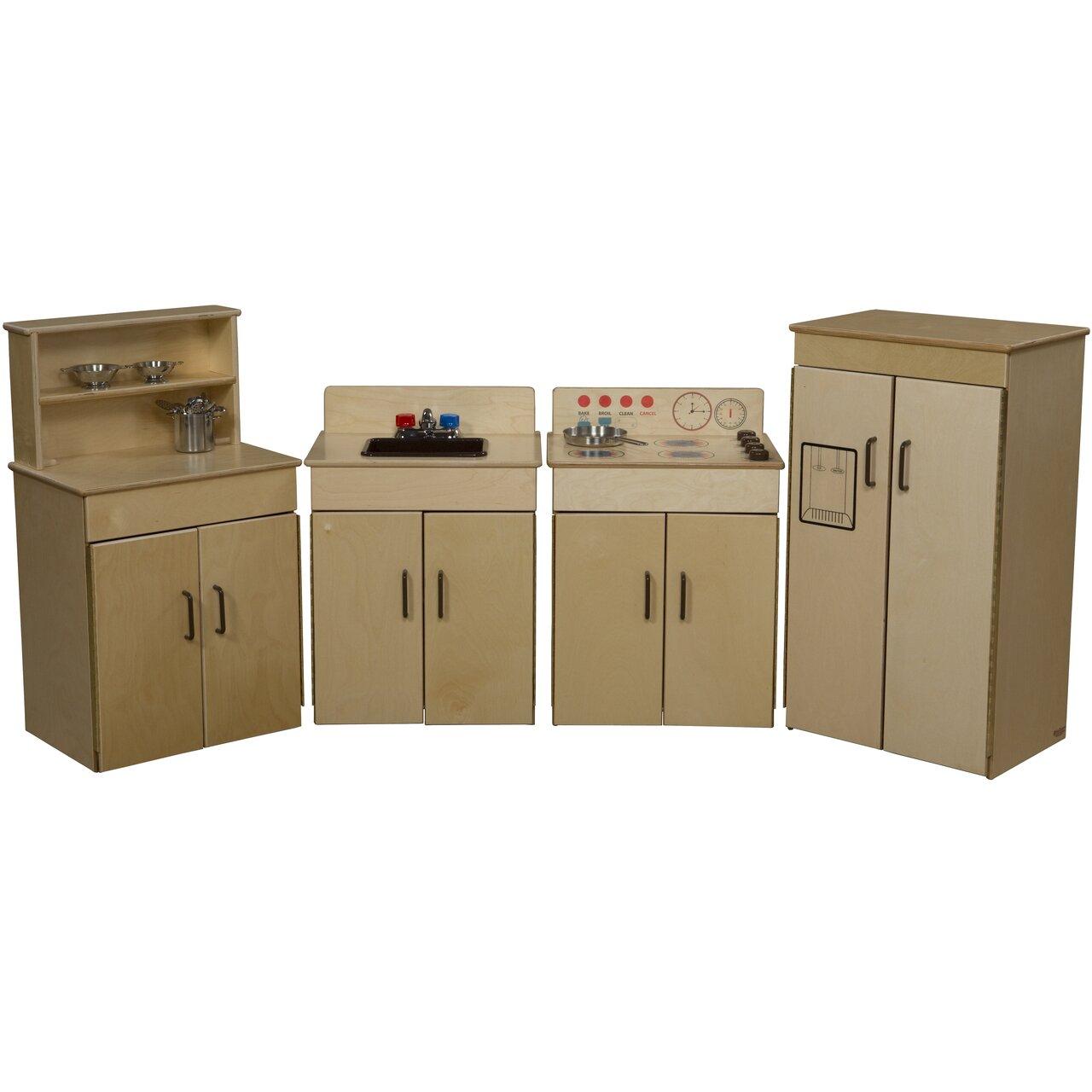 Wood Designs Classic 4 Piece Appliances Kitchen Set Wayfair