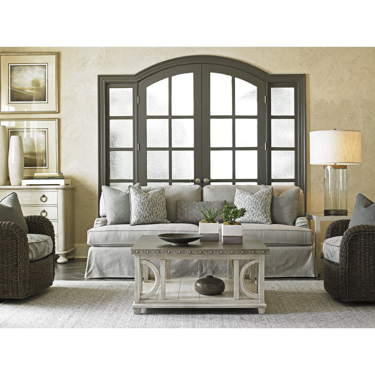 Slipcover Furniture Vancouver: Lexington Oyster Bay Stowe Slipcover Sofa