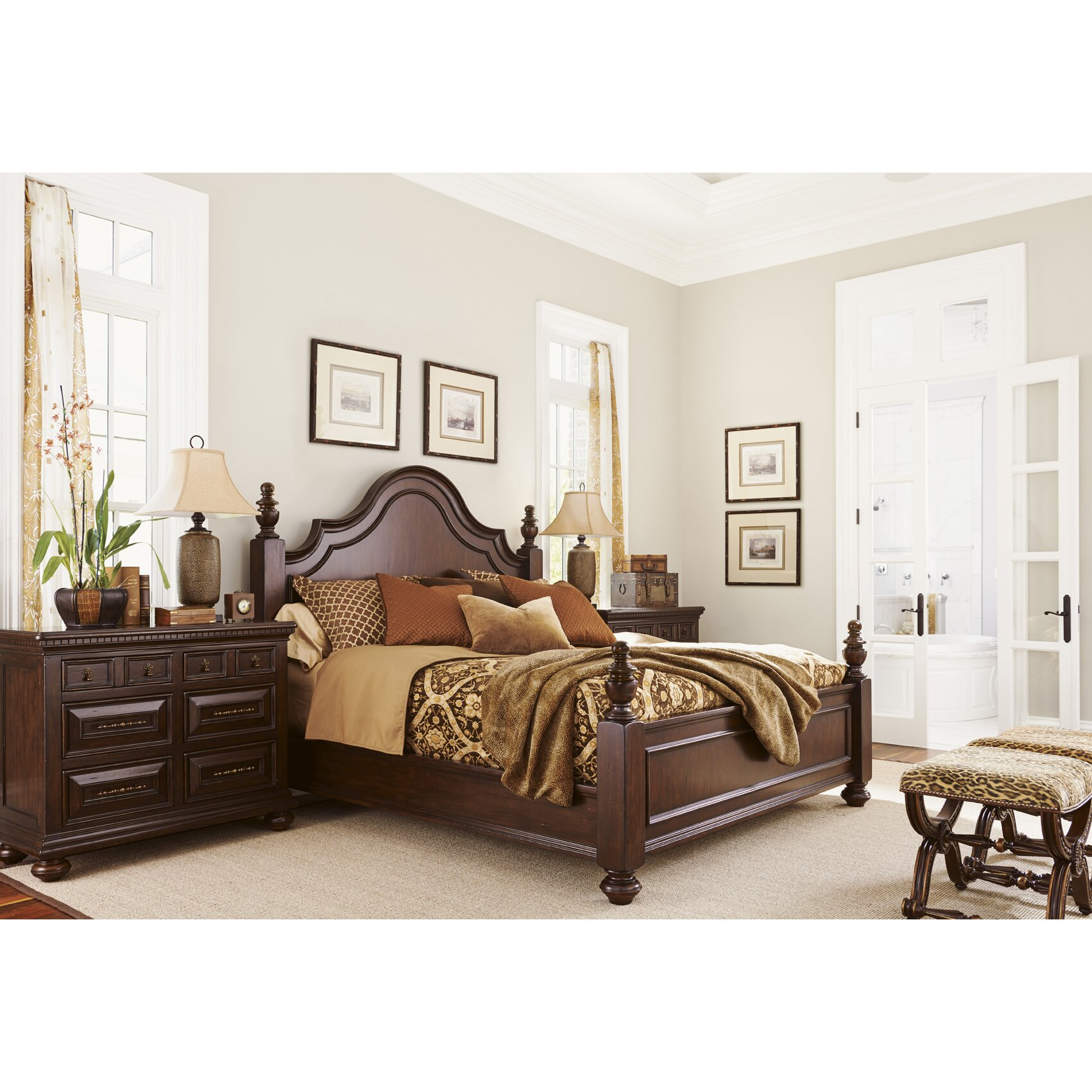 lexington kilimanjaro panel customizable bedroom set
