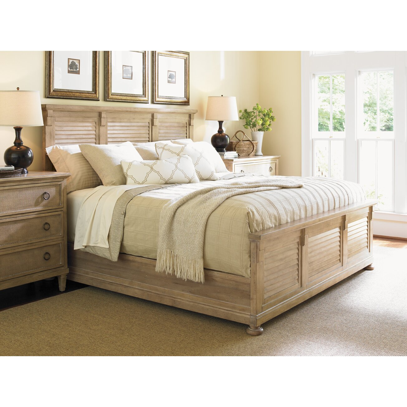lexington monterey sands panel customizable bedroom set