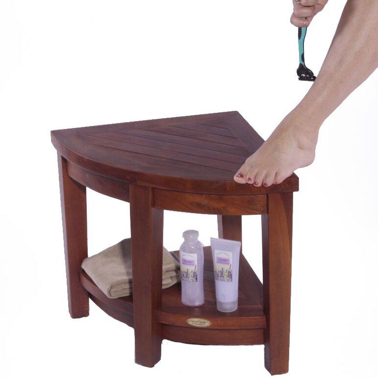 Decoteak Classic Teak Corner Spa Shower Seat Reviews