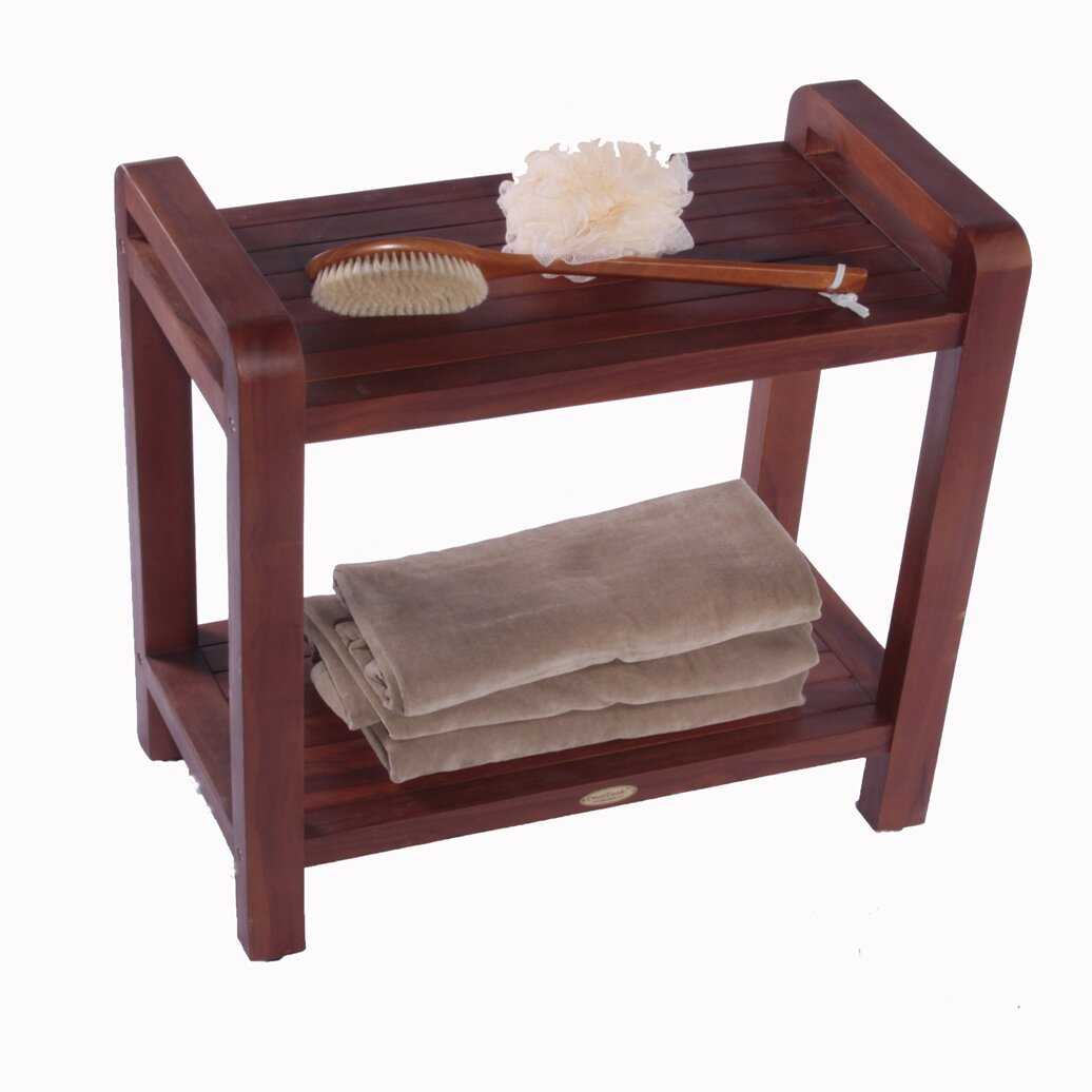 Decoteak outdoor teak bench shelf end table reviews for Outdoor teak side table