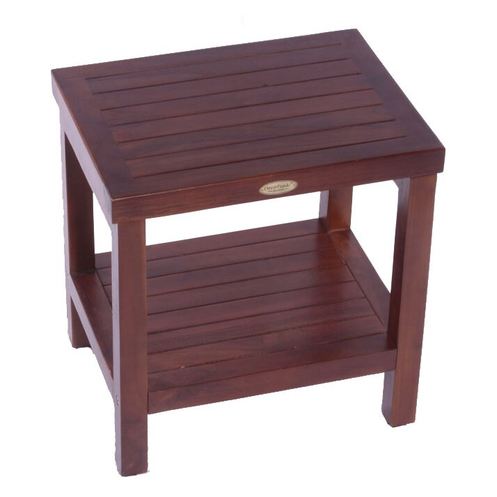 Decoteak classic teak outdoor end table reviews wayfair for Outdoor teak side table