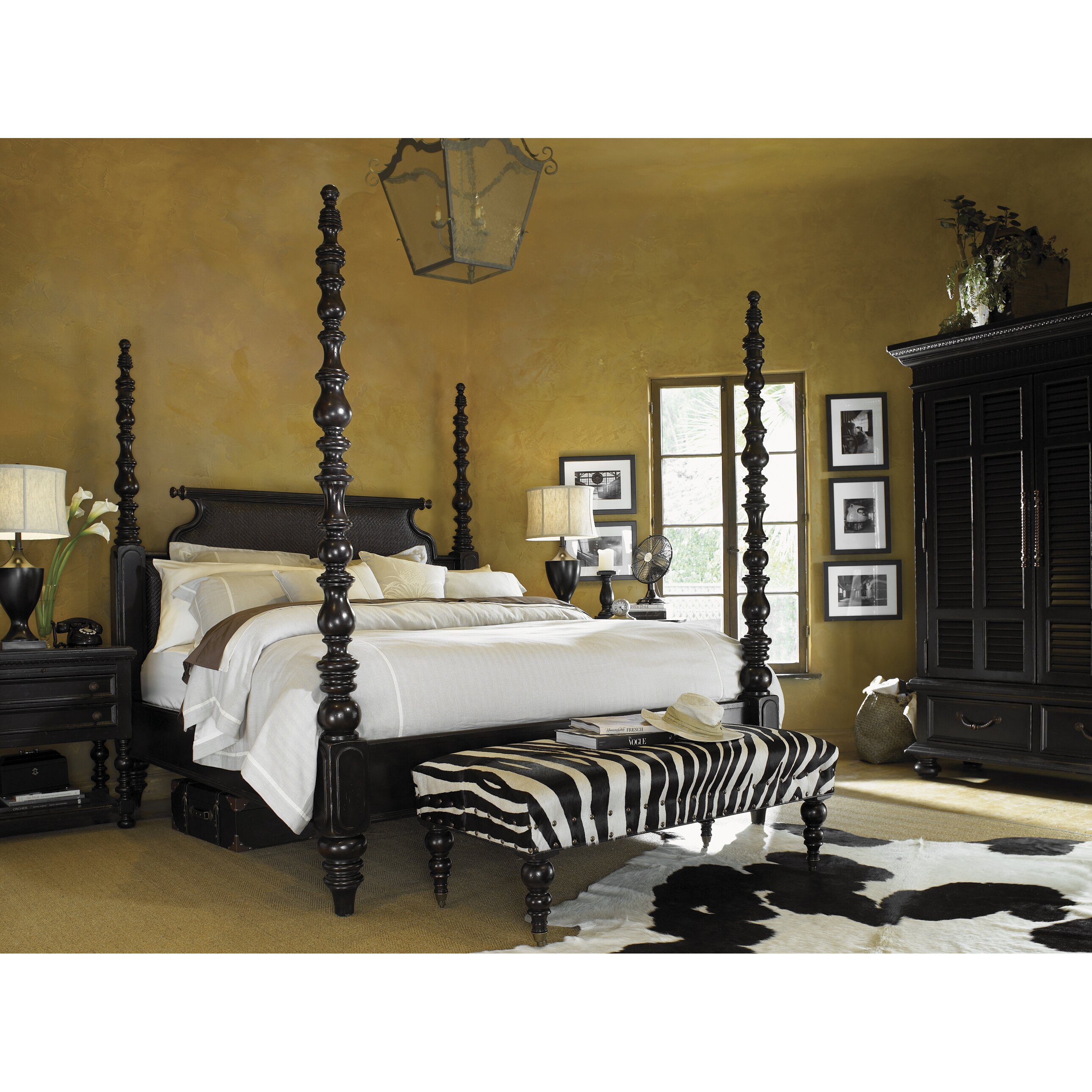 tommy bahama home kingstown four poster customizable bedroom set