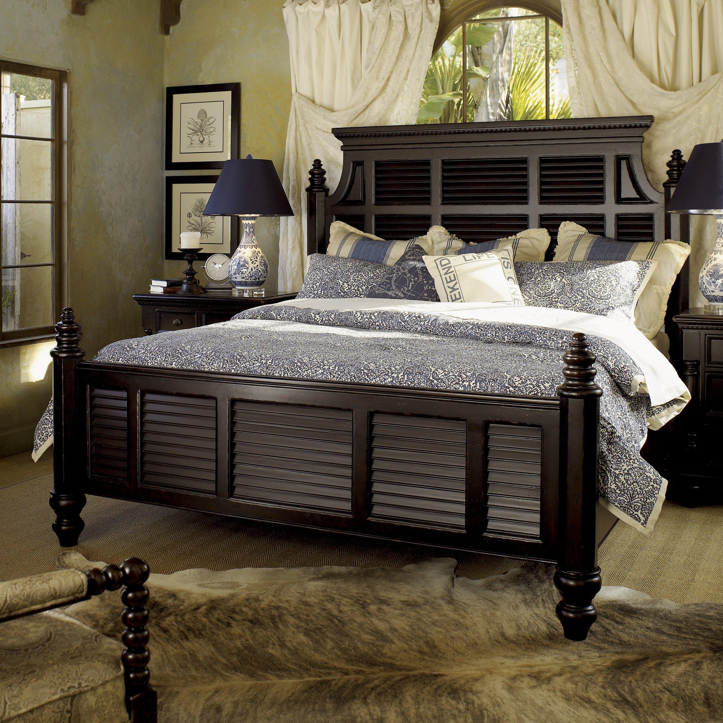 tommy bahama home kingstown panel customizable bedroom set reviews wayfair. Black Bedroom Furniture Sets. Home Design Ideas