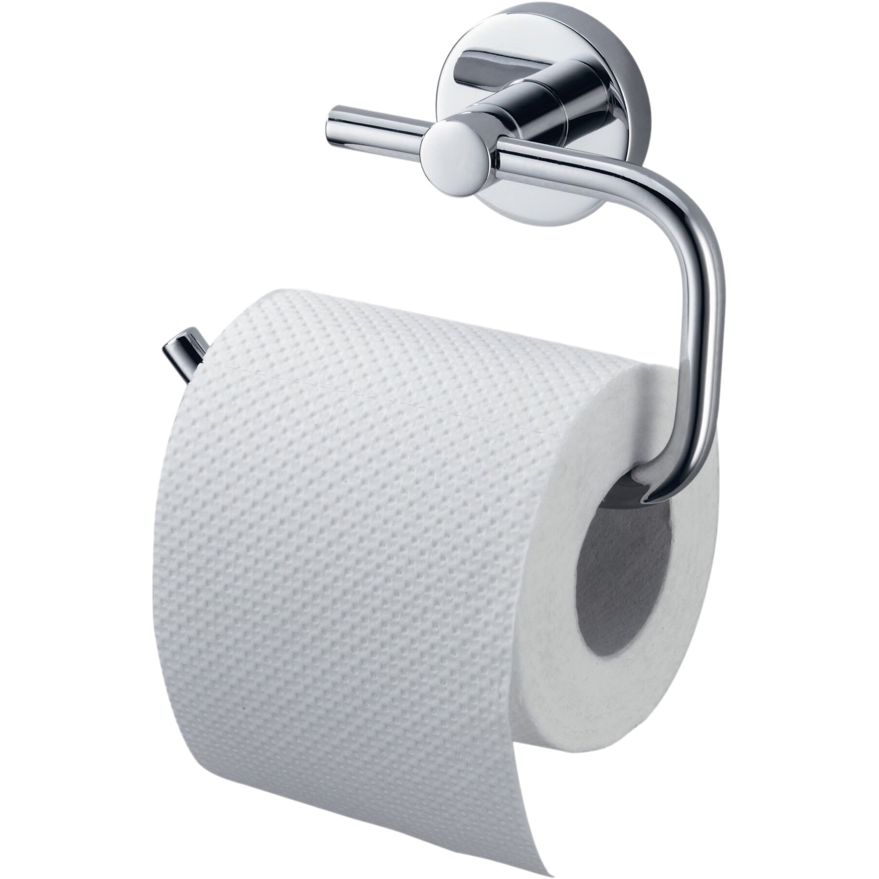 Haceka kosmos wall mounted toilet roll holder in chrome Glass toilet roll holder
