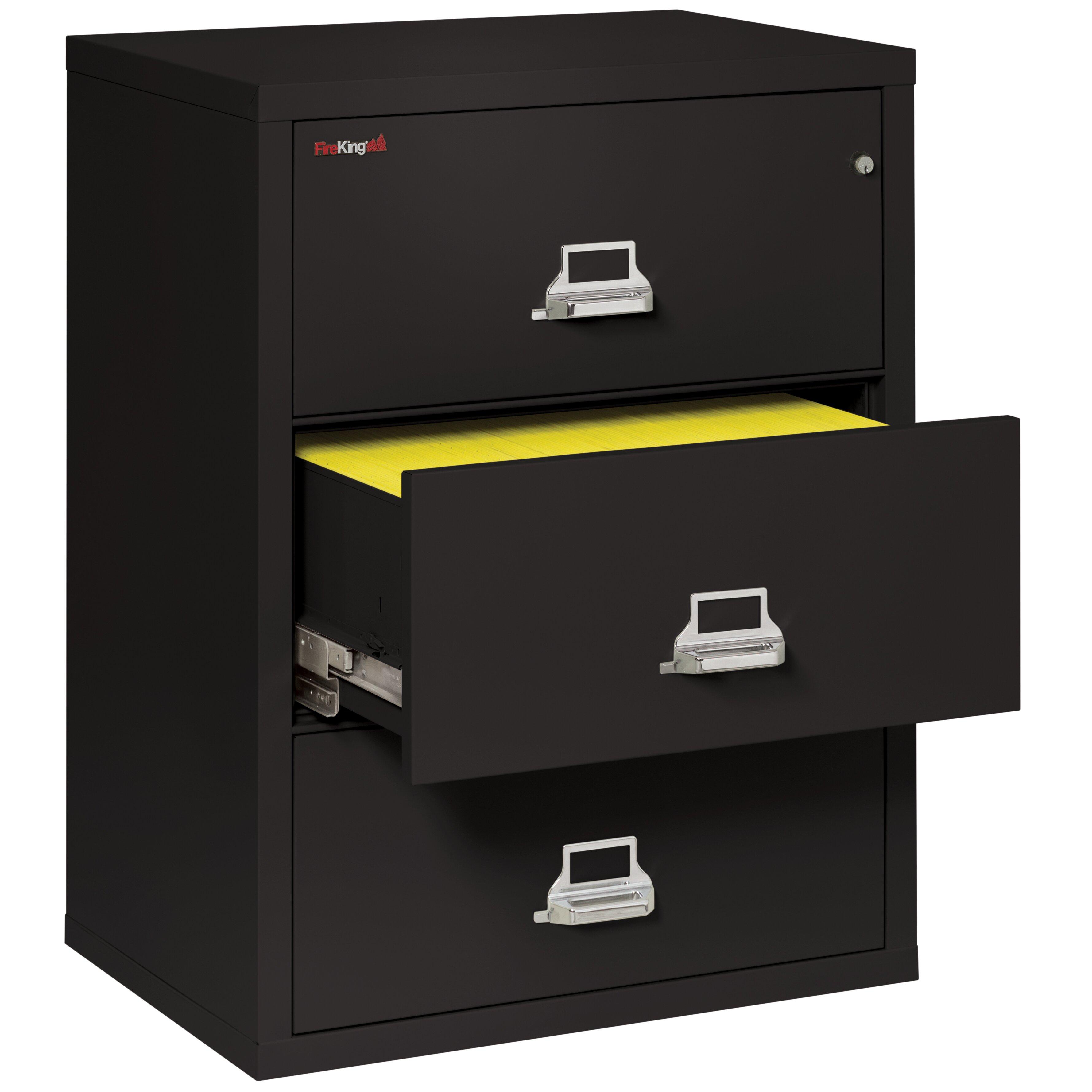 fireking fireproof 3 drawer lateral file cabinet wayfair