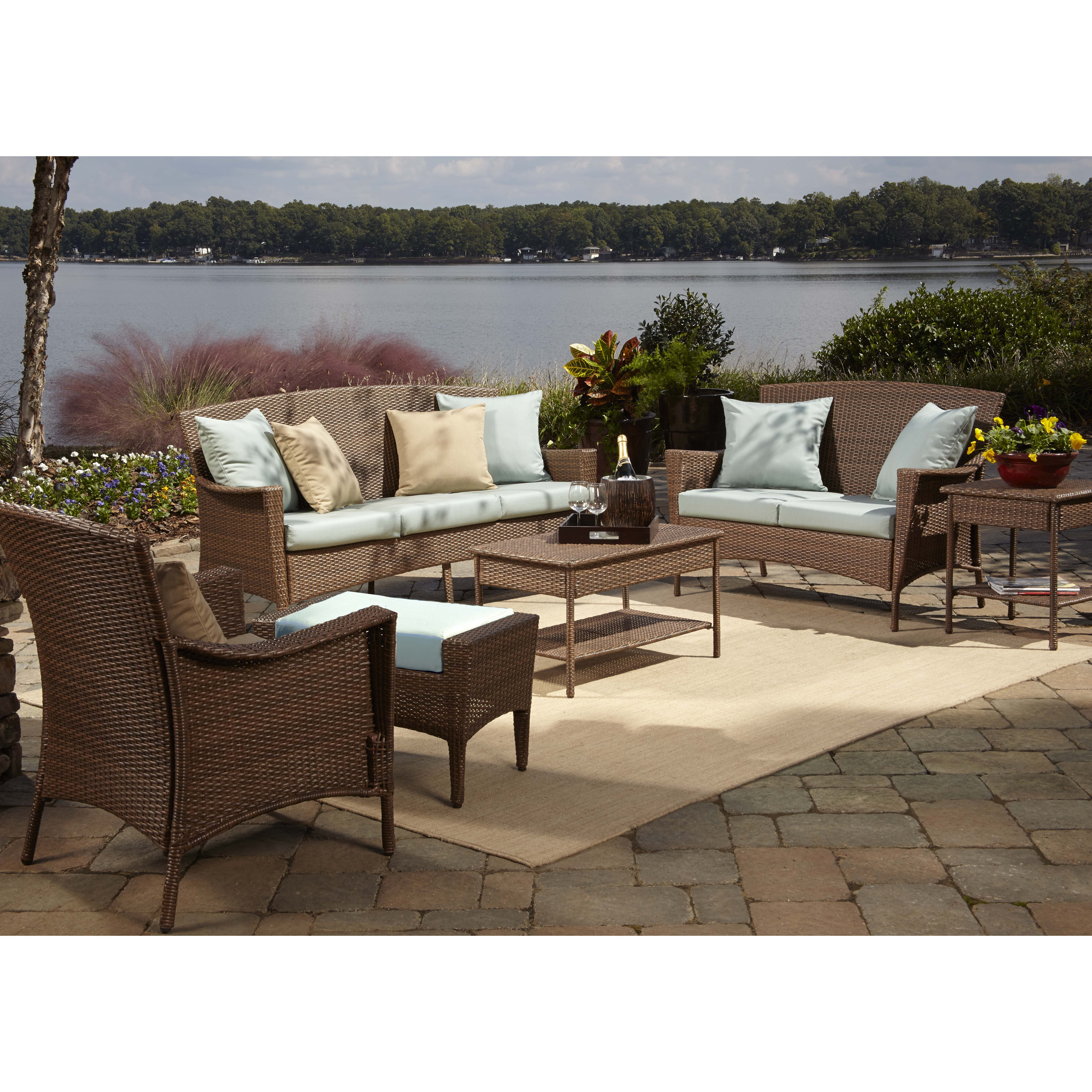 Biscayne Patio Furniture Reviews Home Styles Biscayne Black 7 Swivel Patio Dining Set