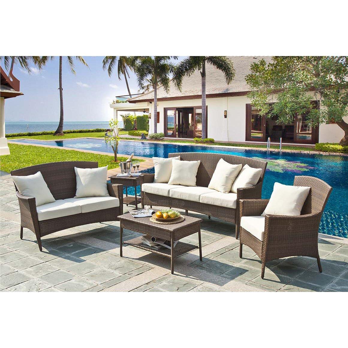 Panama Jack Key Biscayne Lounge Chair With Cushion