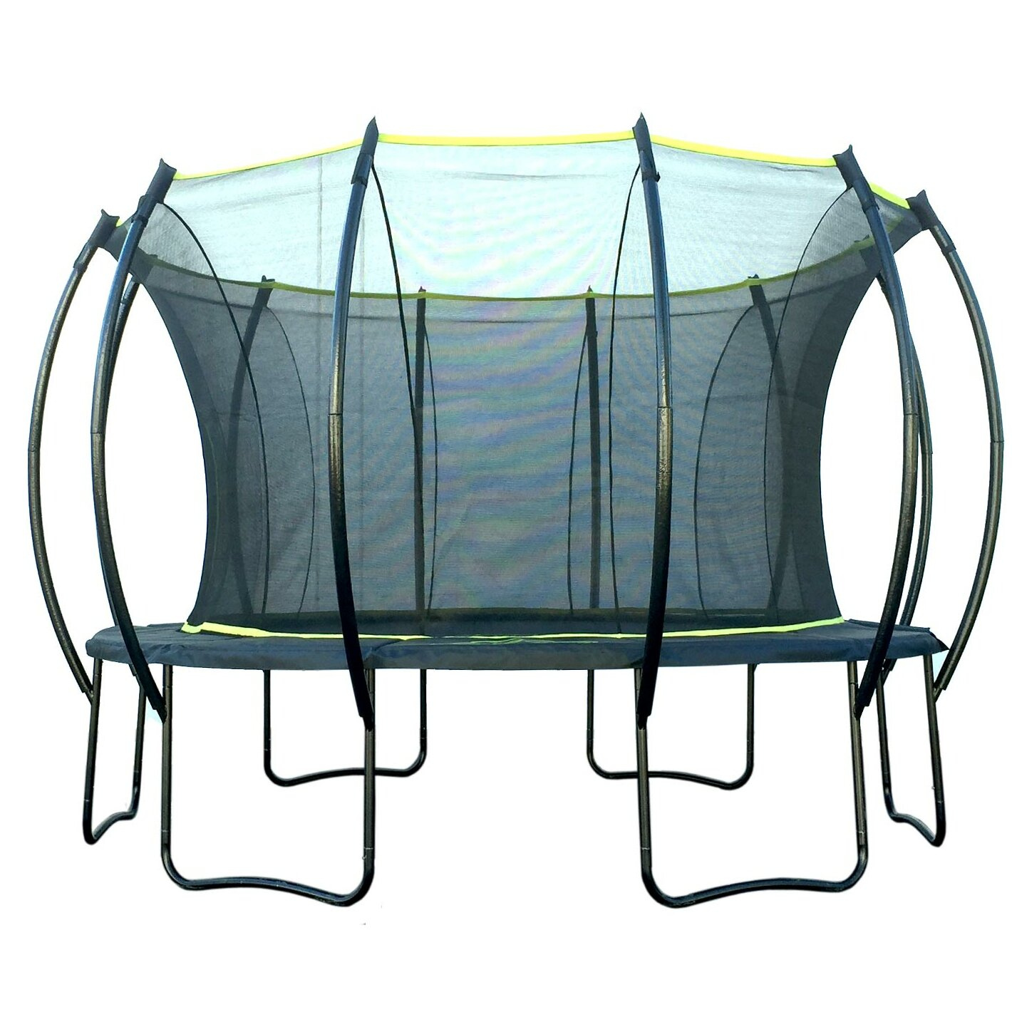 Propel 14 Trampoline With Fun Ring Enclosure: SKYBOUND Stratos 14' Trampoline With Safety Enclosure