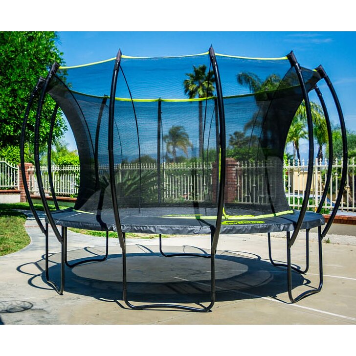 Kidwise Jumpfree 15 Ft Trampoline And Safety Enclosure: SKYBOUND Stratos 15' Trampoline With Safety Enclosure
