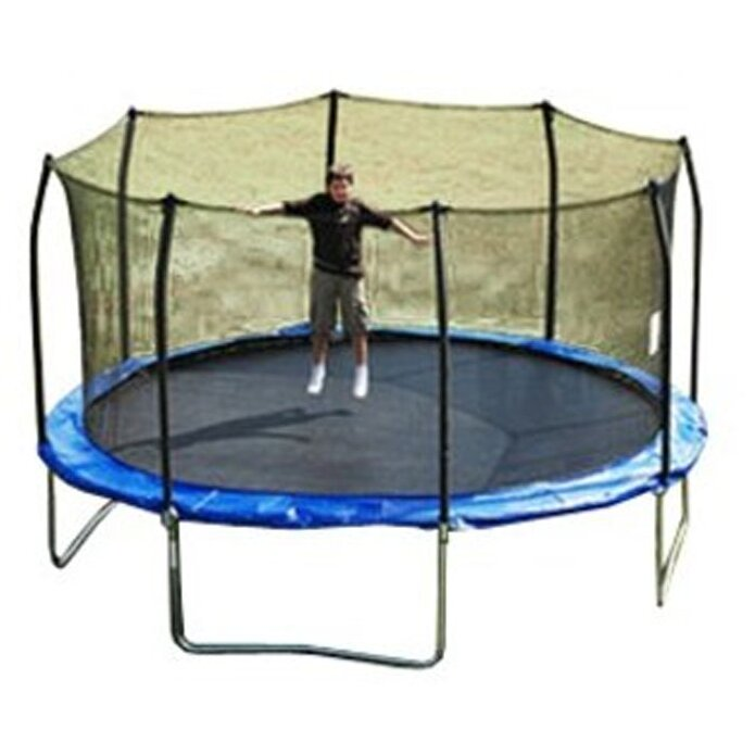SKYBOUND 15' Enclosure Trampoline Replacement Net Using 8
