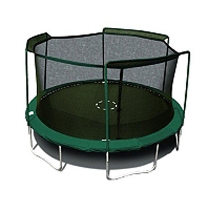 SKYBOUND 15' Enclosure Trampoline Net Using 3 Arches