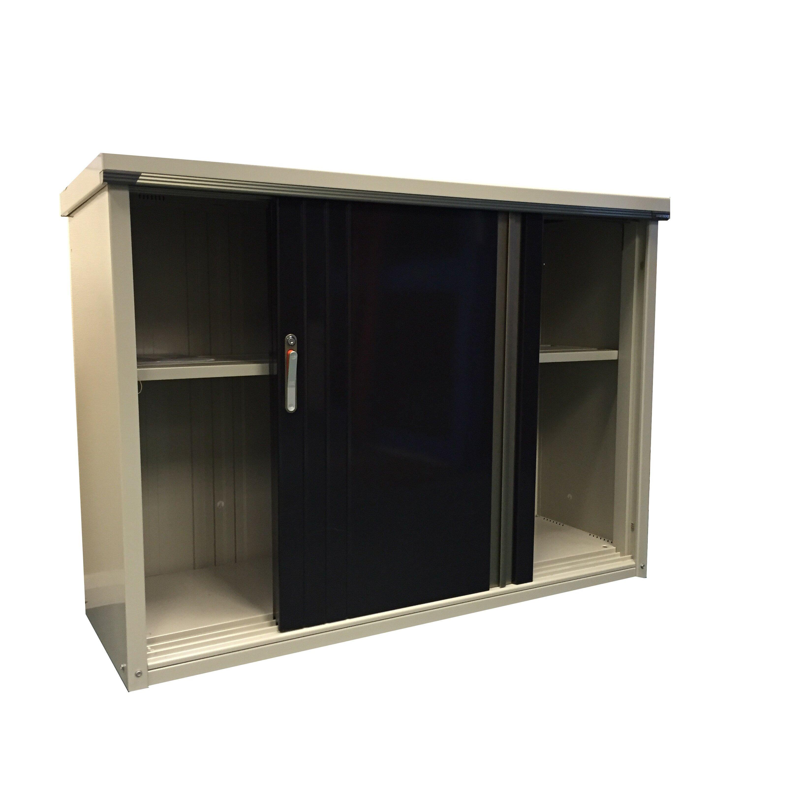 Store more takubo 5 x 2 metal storage shed wayfair uk for Wayfair store