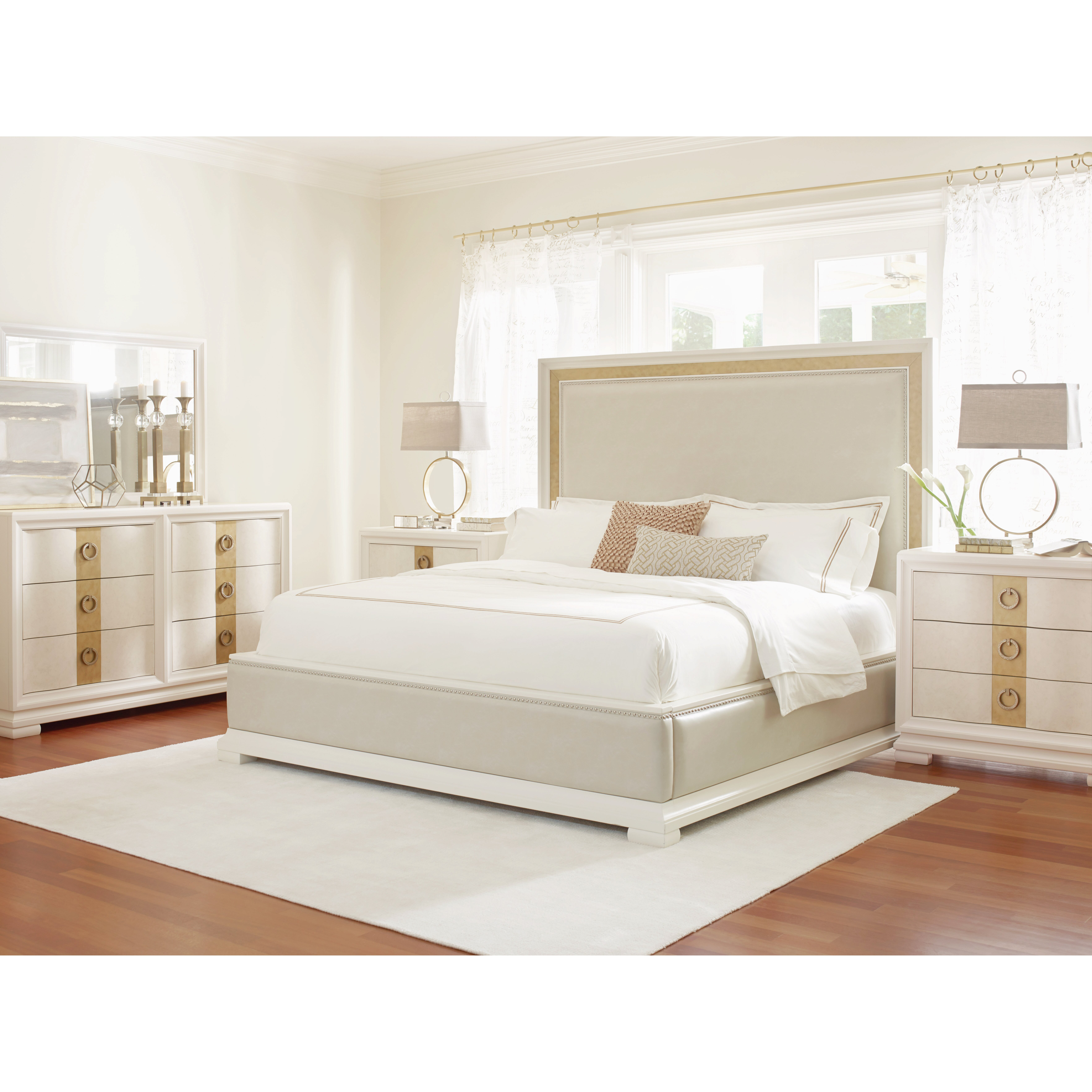 Legacy classic furniture tower suite upholstered panel bed for Legacy classic bed