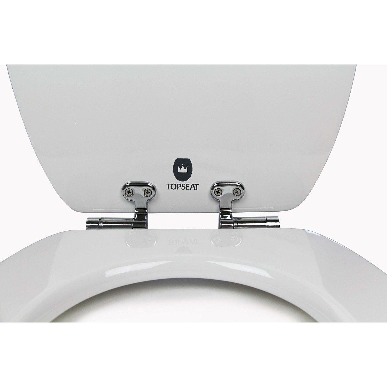 Topseat Elongated Wood Slow Close Toilet Seat Amp Reviews