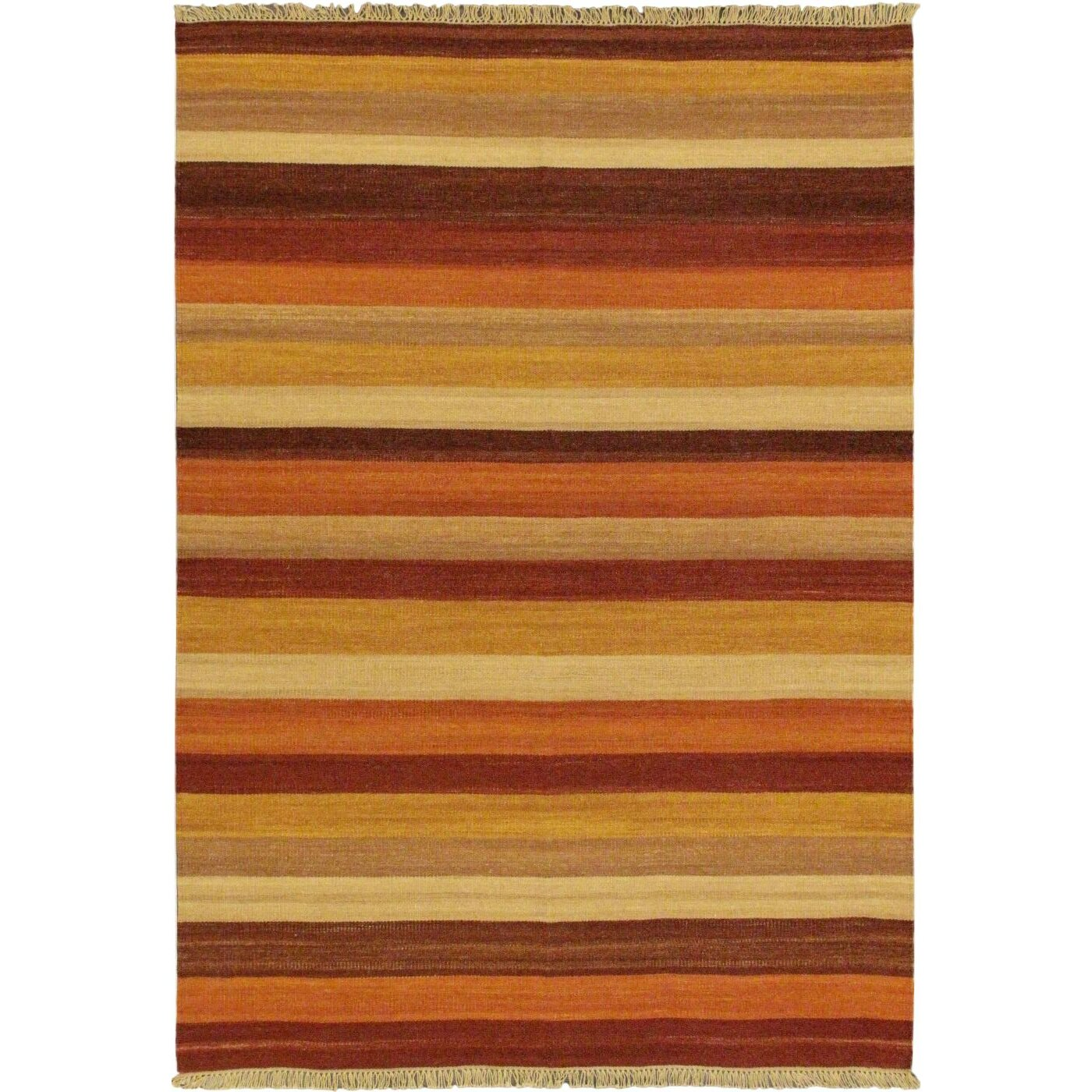 Ecarpetgallery fiesta dark red striped area rug wayfair for Red and white striped area rug