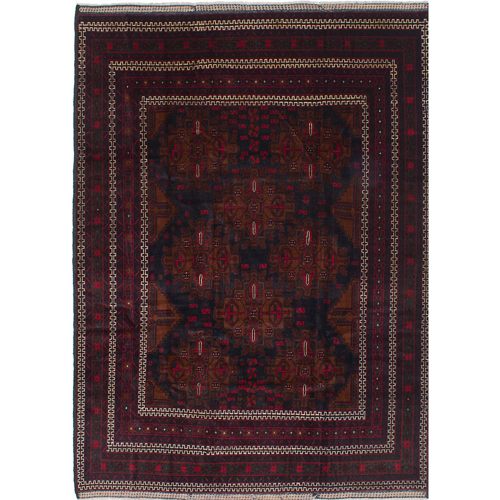 Ecarpetgallery rizbaft hand knotted blue red area rug for Red and blue area rug