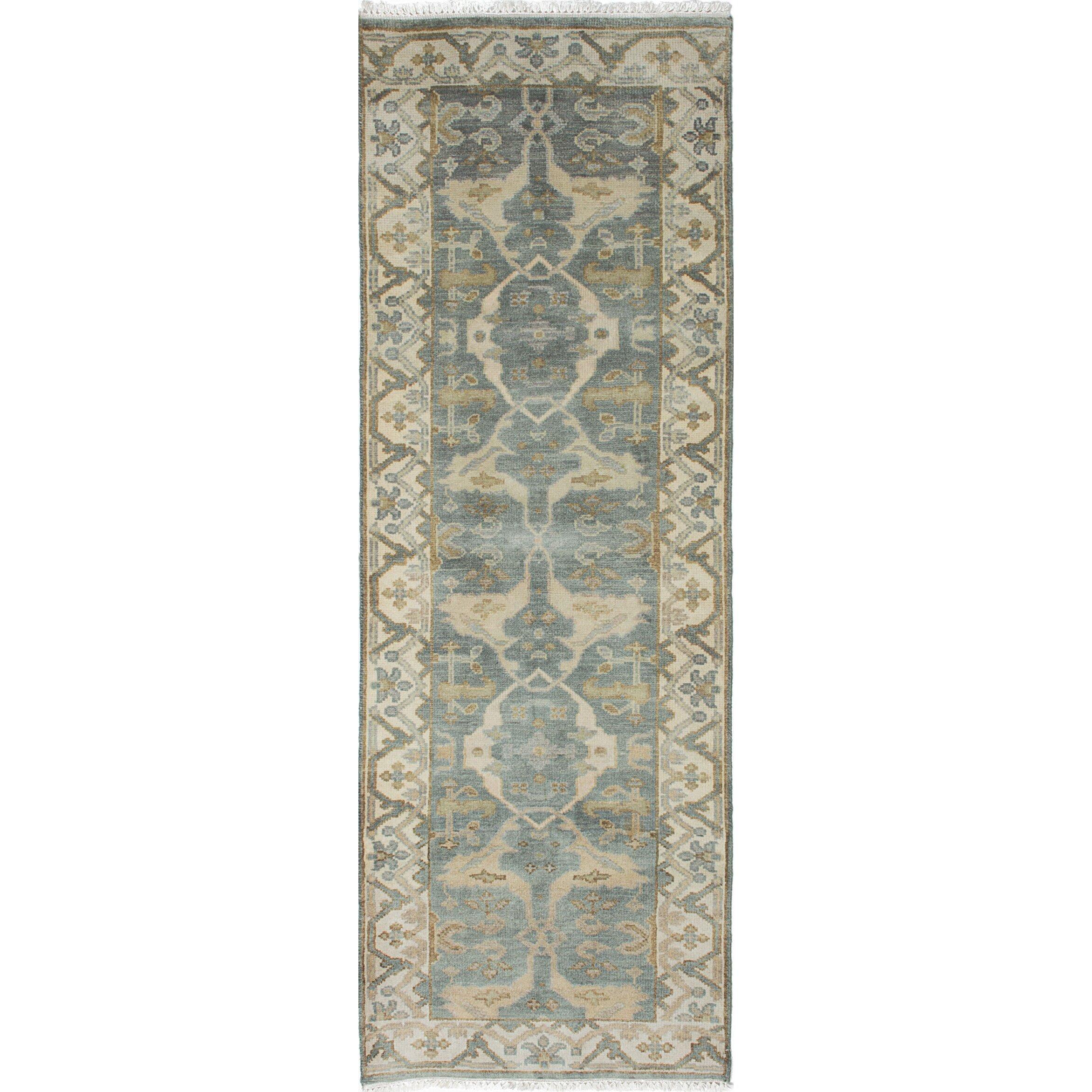 ecarpetgallery royal ushak hand knotted turquoise area rug