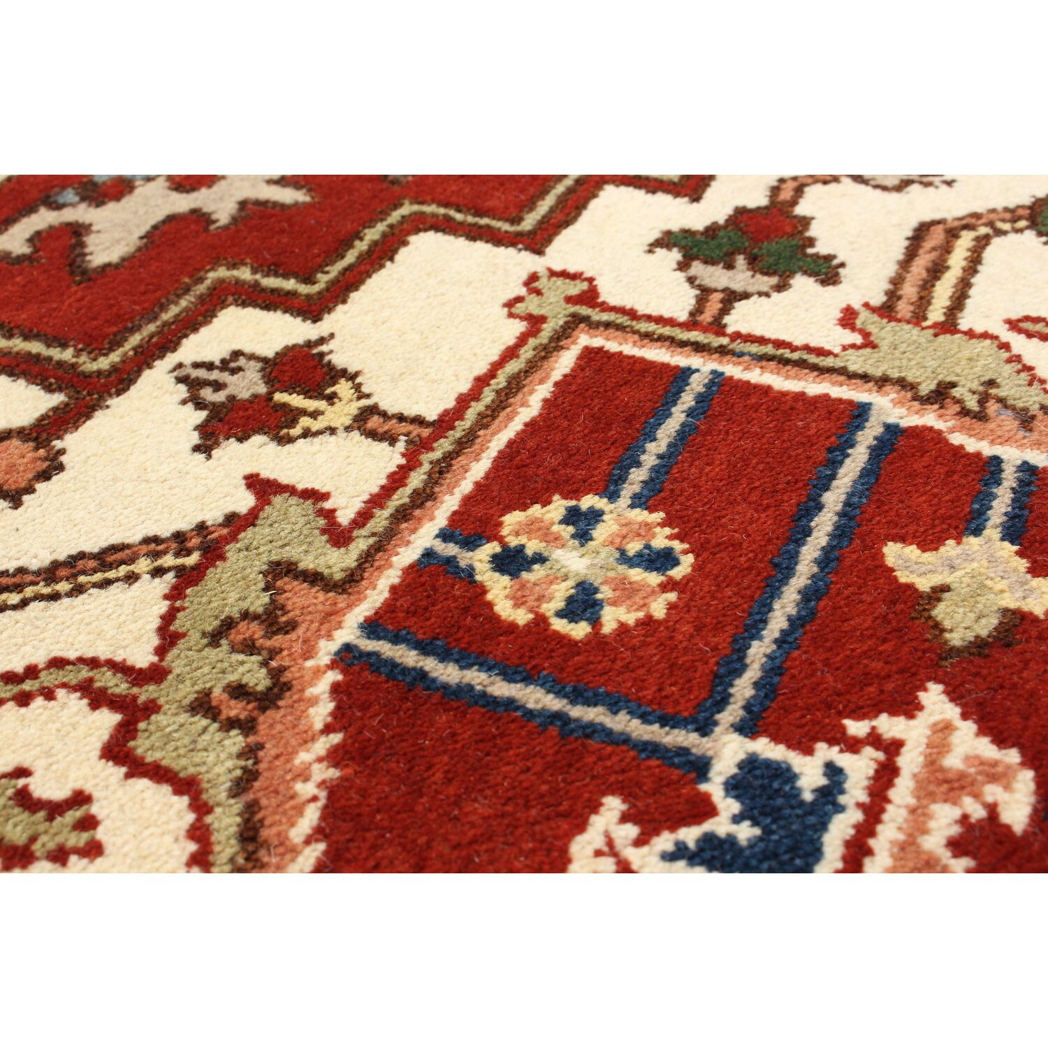 ecarpetgallery hand knotted navy blue red area rug wayfair