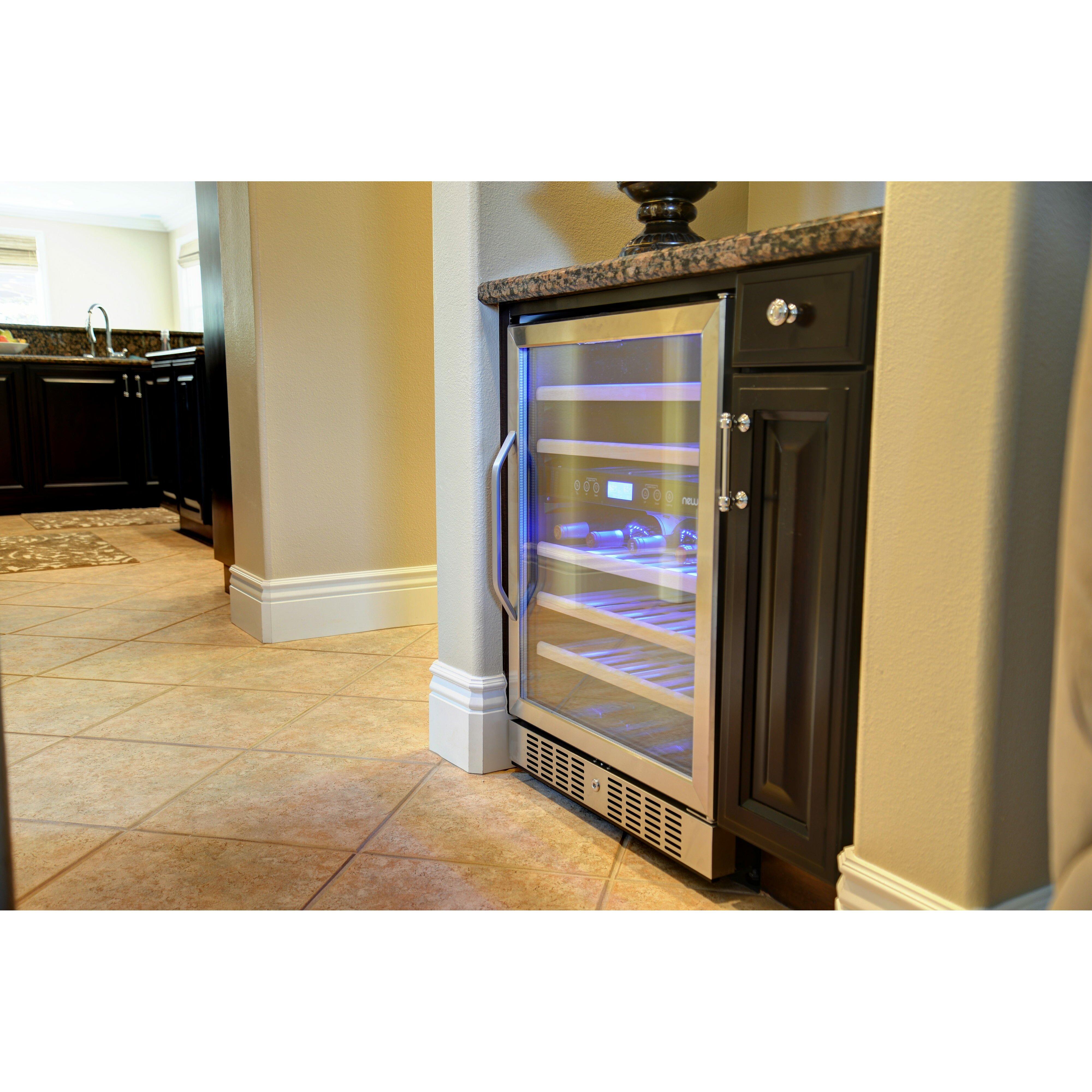 newair 46 bottle dual zone built in wine refrigerator reviews wayfair. Black Bedroom Furniture Sets. Home Design Ideas
