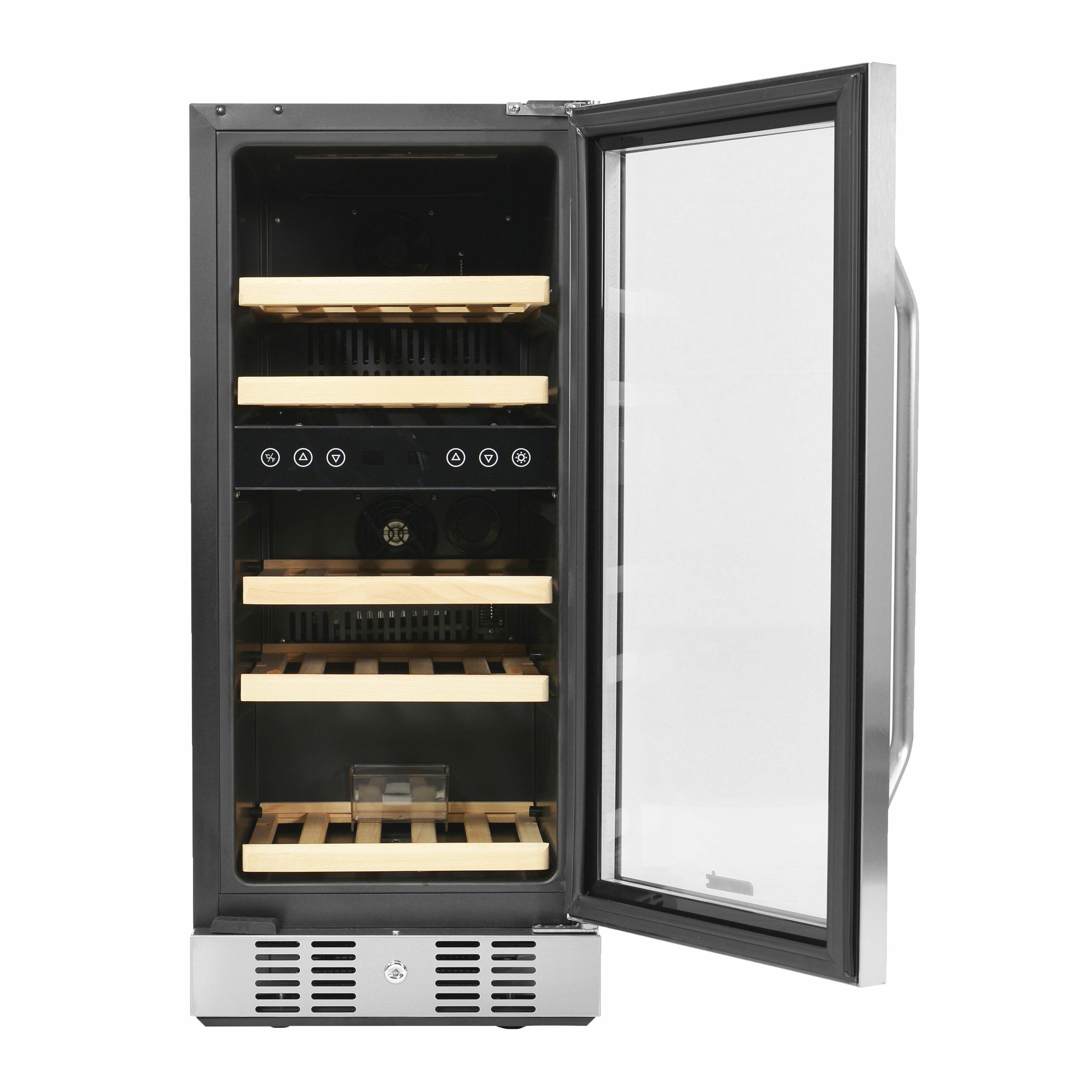 newair 29 bottle dual zone built in wine refrigerator reviews wayfair. Black Bedroom Furniture Sets. Home Design Ideas