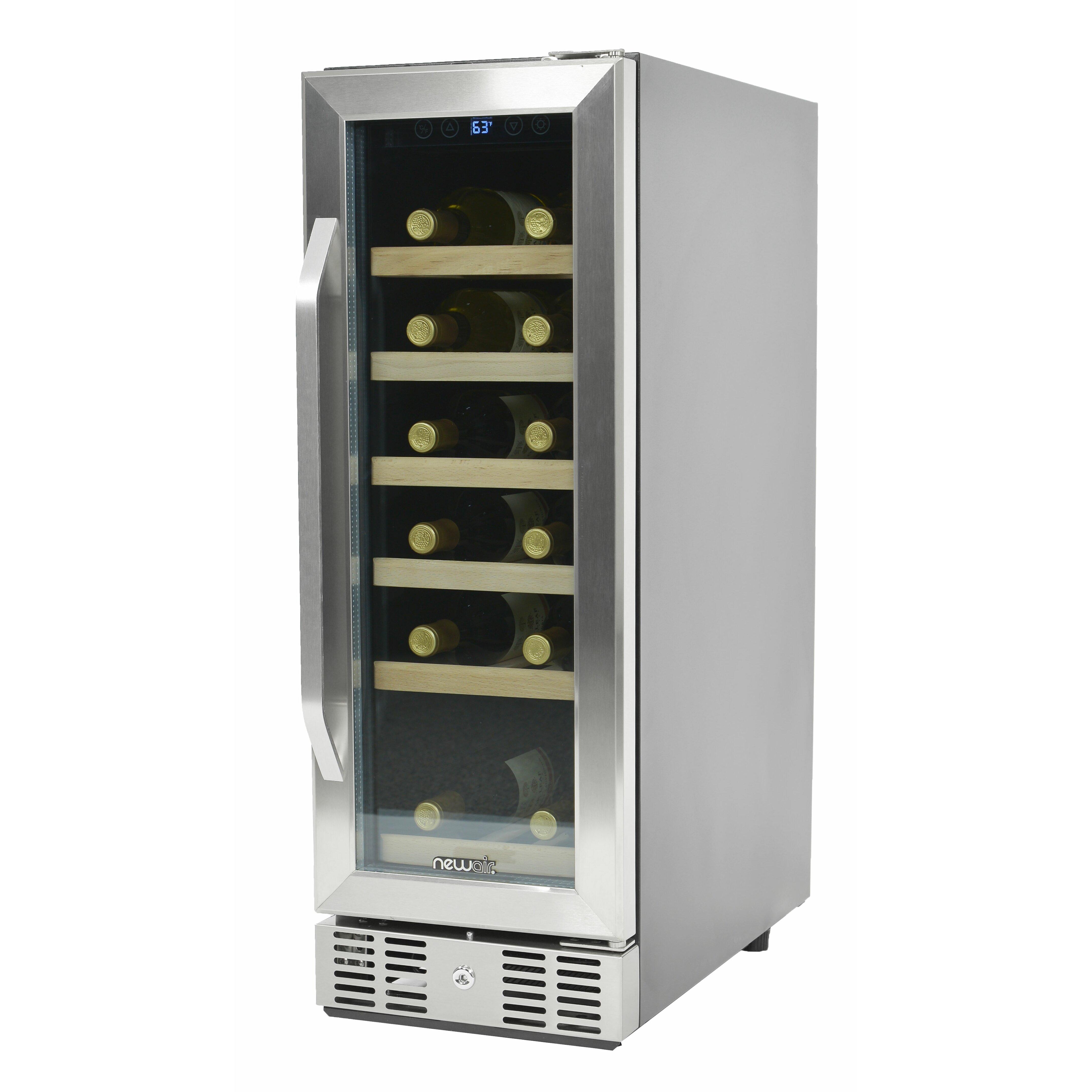 Newair 19 Bottle Single Zone Built In Wine Refrigerator