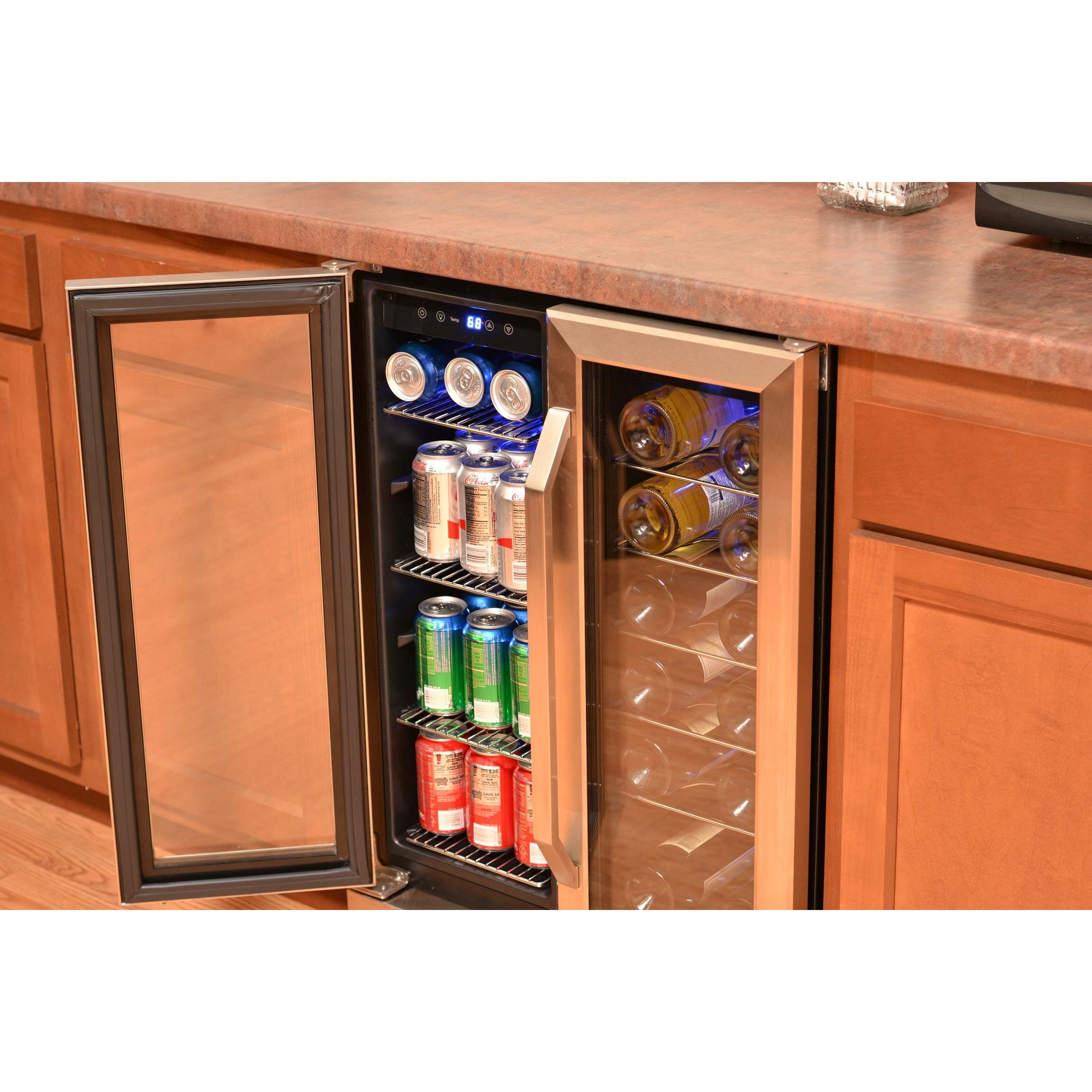 newair 18 bottle dual zone built in wine refrigerator reviews wayfair. Black Bedroom Furniture Sets. Home Design Ideas