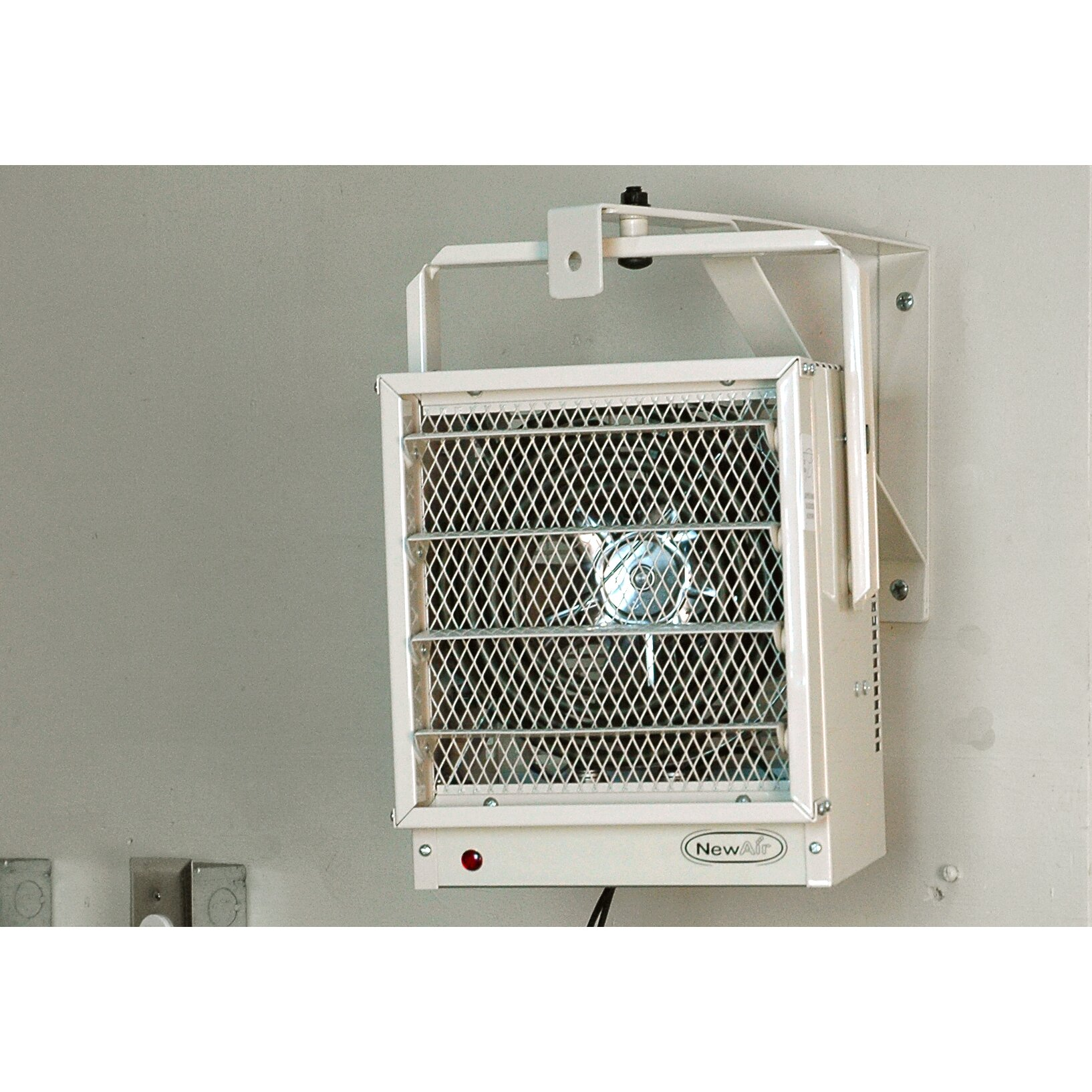 Fan Ceiling Electric : Newair watts fan forced wall ceiling electric garage