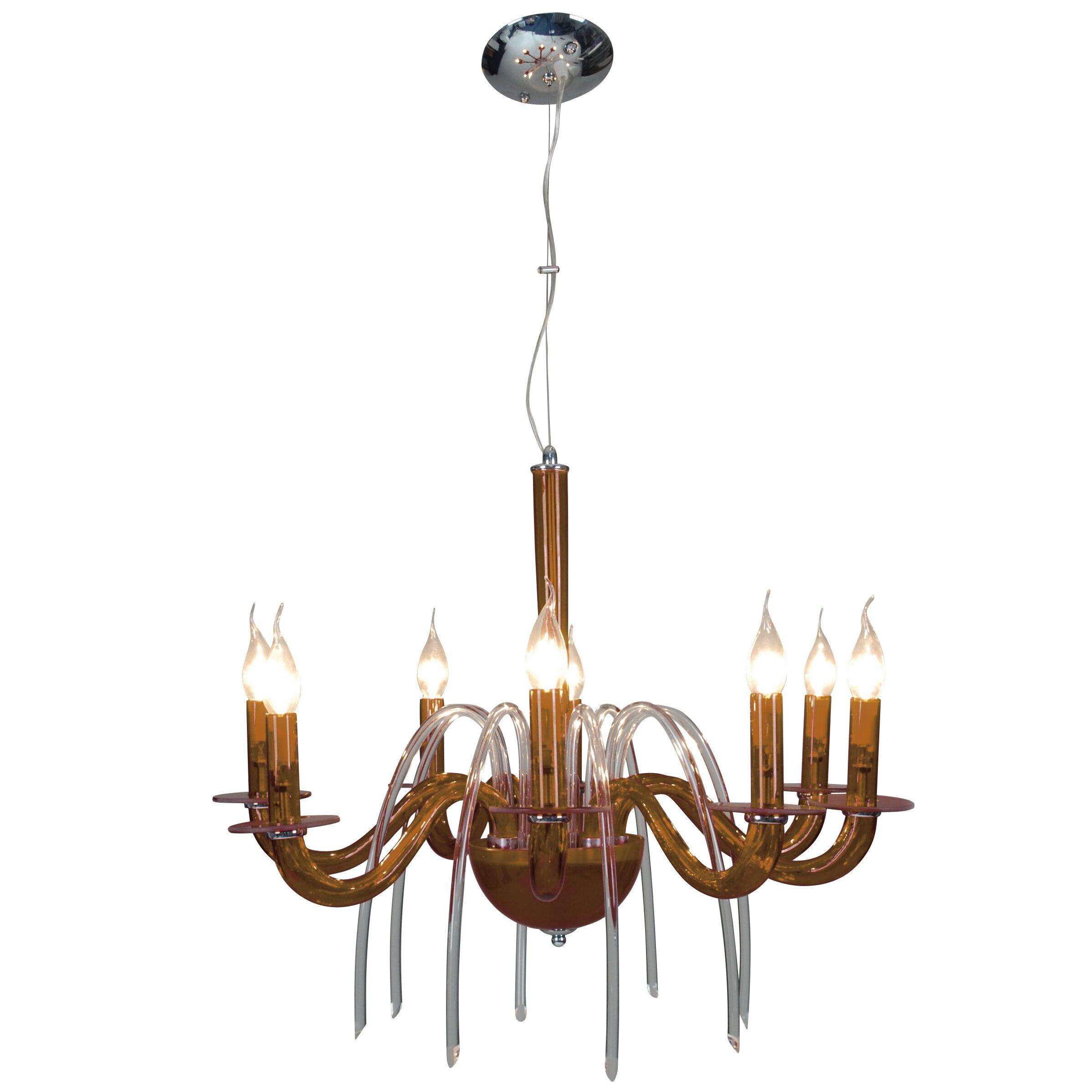 naeve leuchten decorative 8 light candle style chandelier wayfair uk