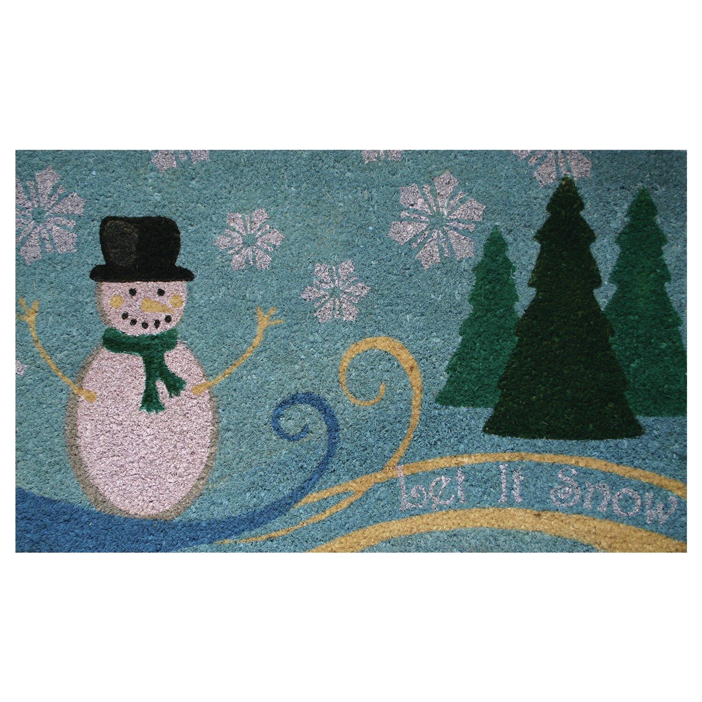 Robert Allen Home And Garden Let It Snowman Doormat Reviews Wayfair