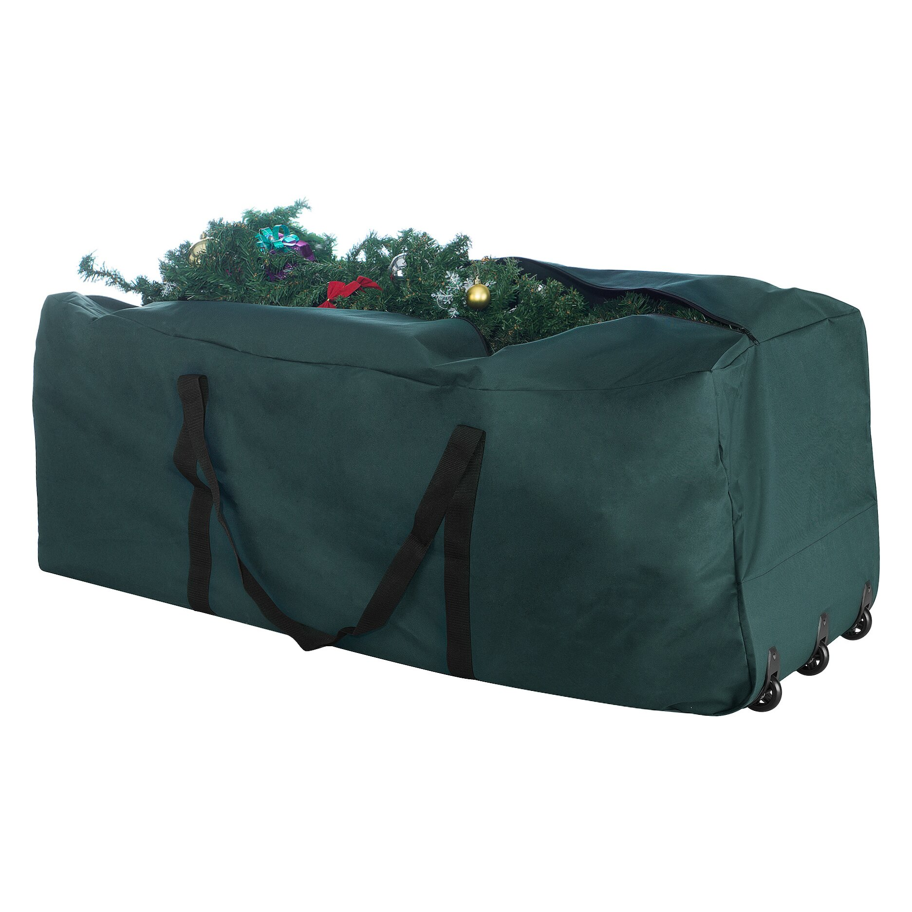 elf stor premium green rolling duffle bag christmas tree storage bag reviews wayfair. Black Bedroom Furniture Sets. Home Design Ideas