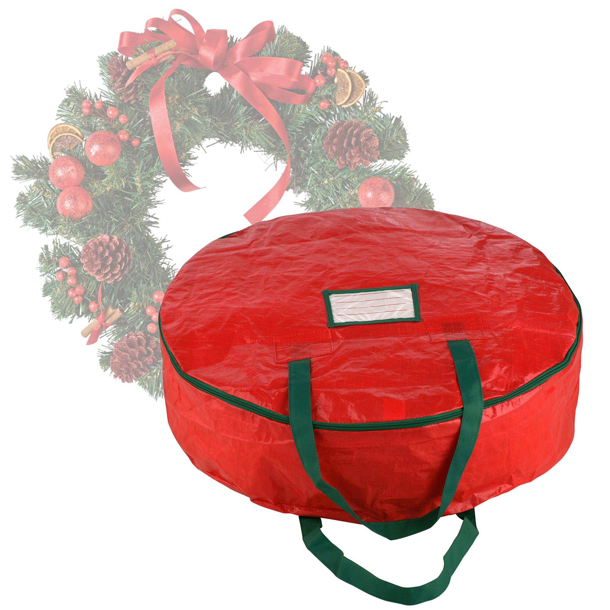 stor premium wreath storage bag for