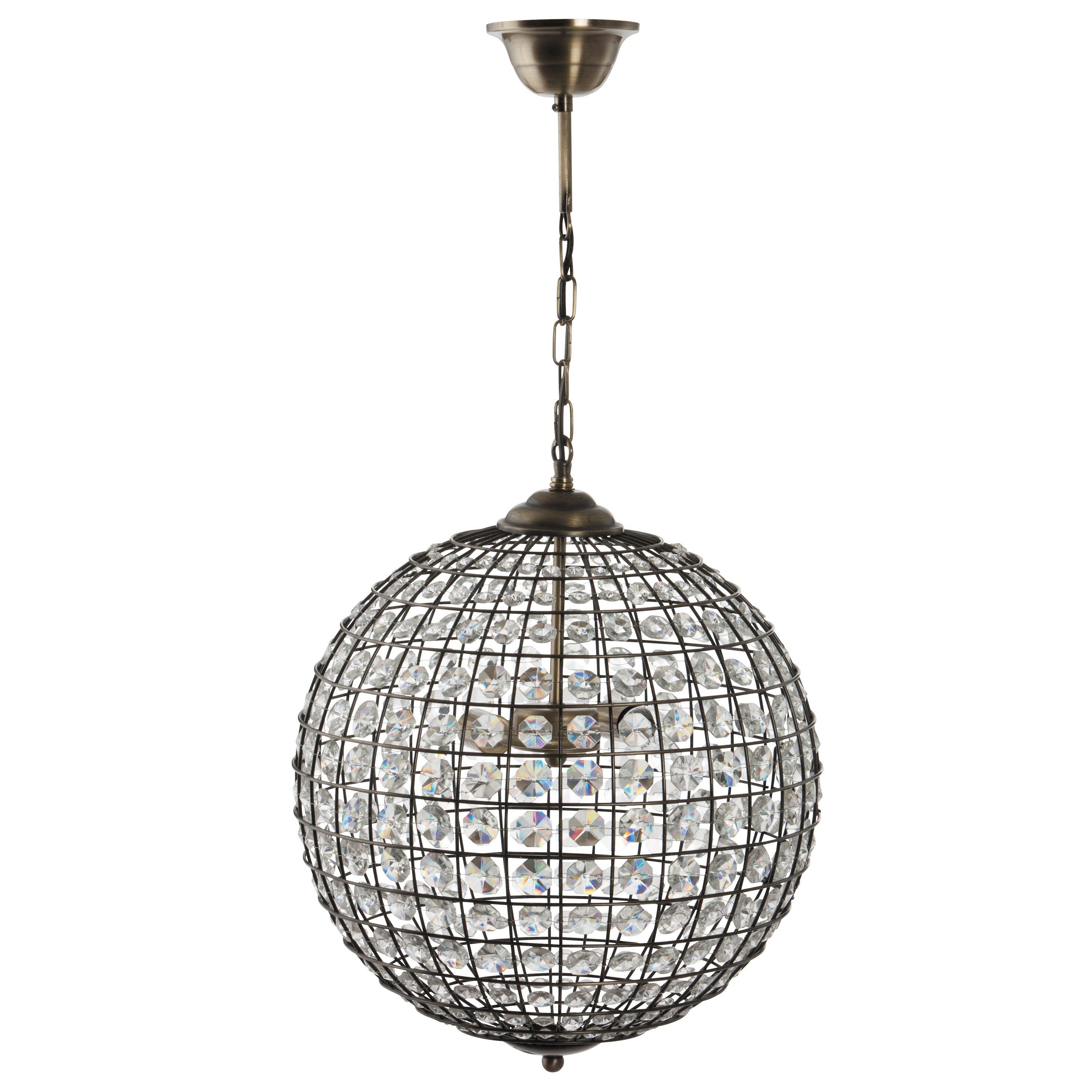 pacific lifestyle 41cm metal sphere pendant shade wayfair uk