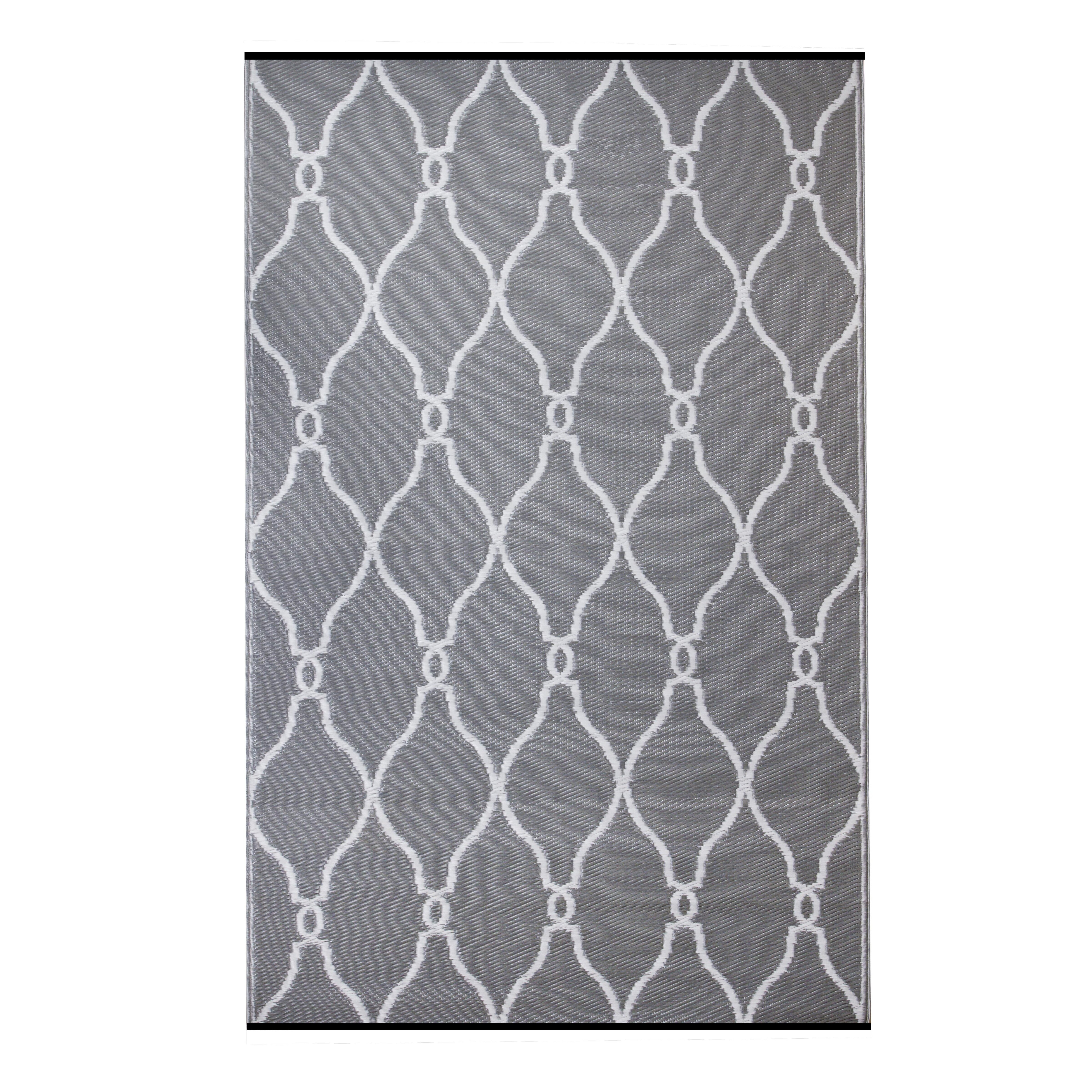 Fox Hill Trading Premier Home Hand Woven Gray White Indoor