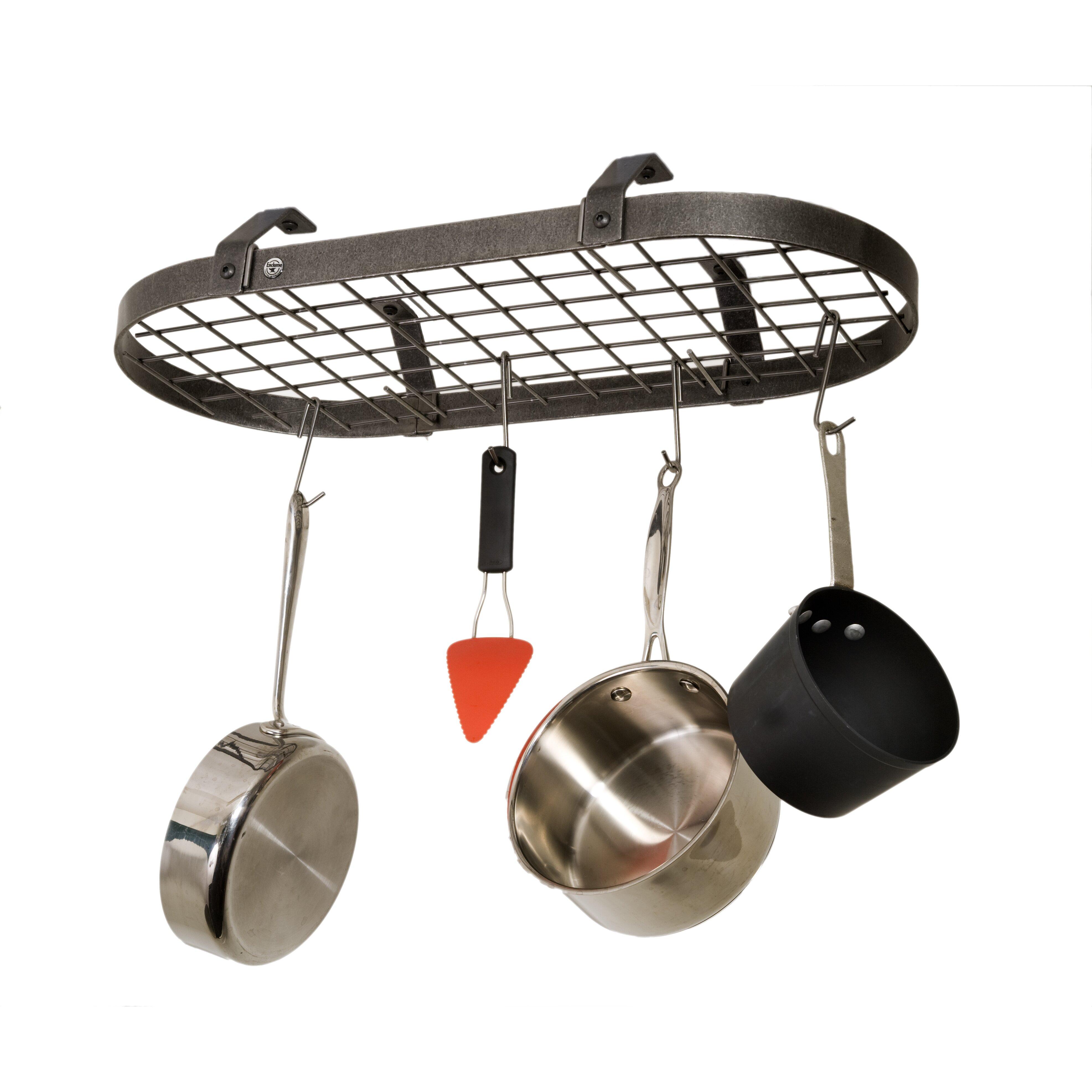 Pot Rack: Enclume Low Ceiling Oval Hanging Pot Rack