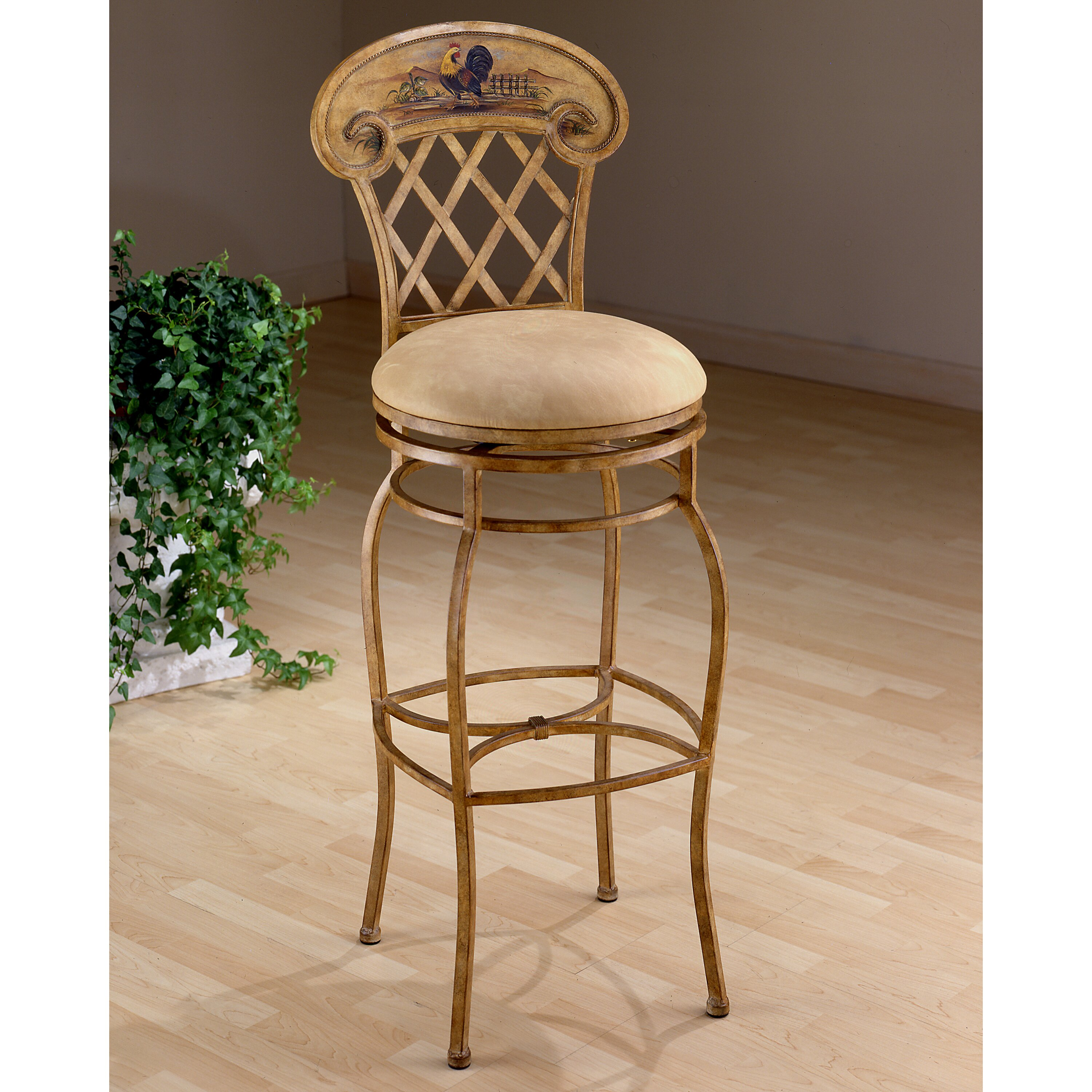 Hillsdale Rooster 26 5 Quot Swivel Bar Stool Amp Reviews Wayfair