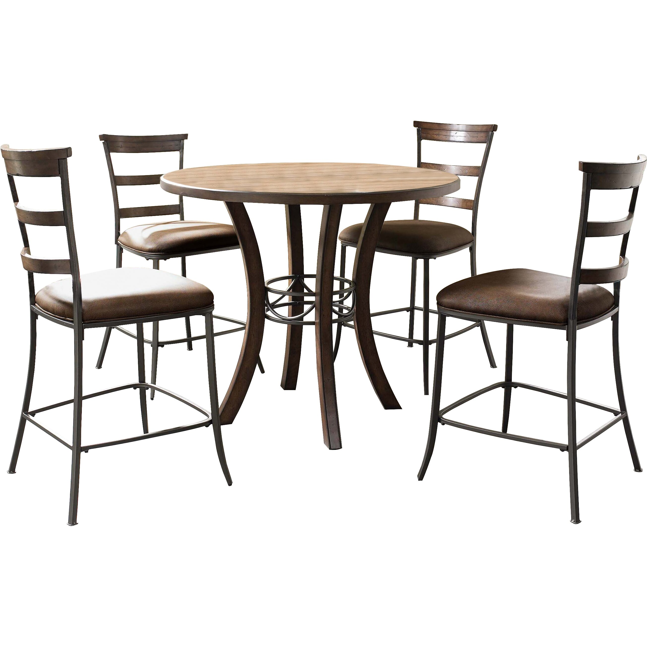Hillsdale cameron 5 piece counter height dining set for 5 piece dining set